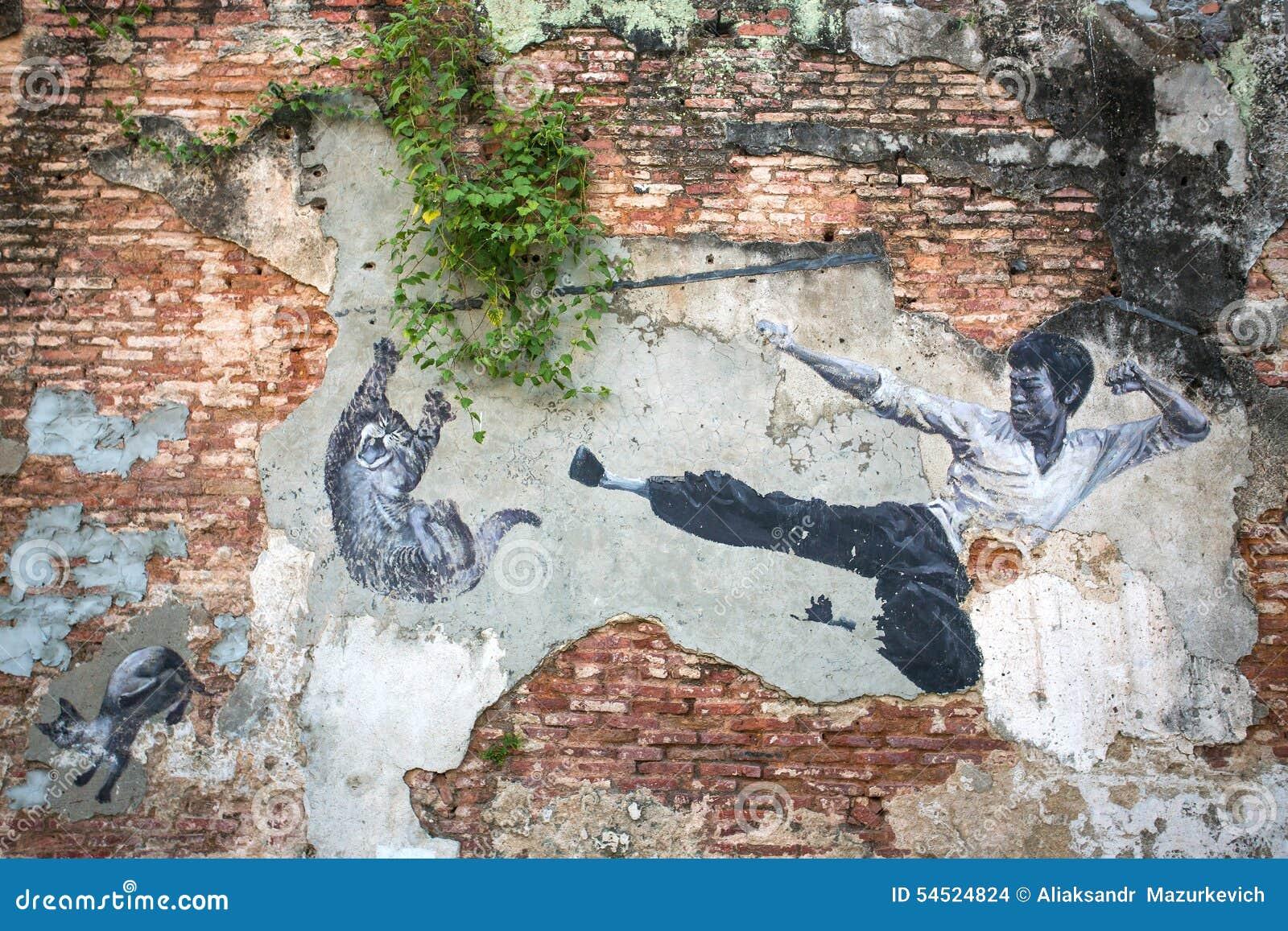 """""""Arte da rua de Bruce Lee Would Never Do This real"""""""