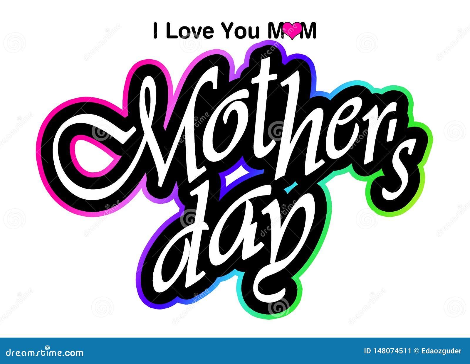 """""""ti amo mamma """", grafici di giorno di madri"""