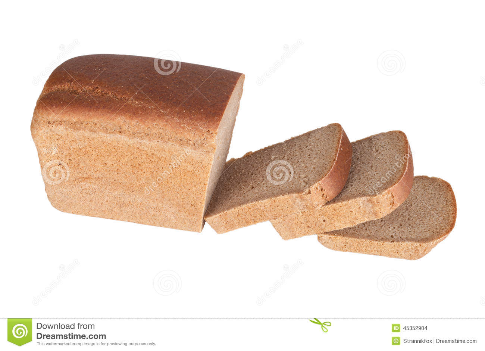 ‹Découpé en tranches d †de ‹d †de pain noir d isolement sur le fond blanc