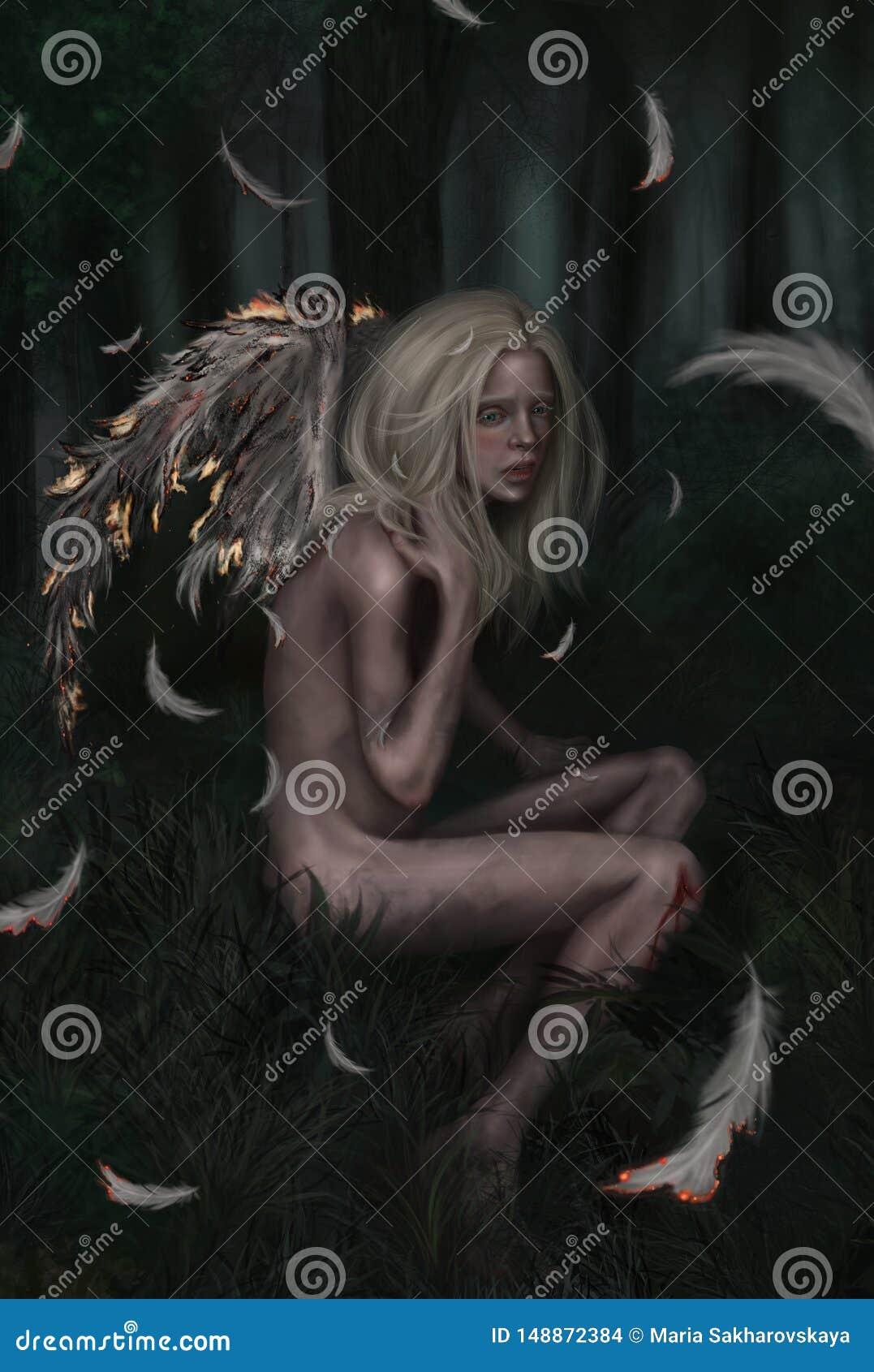 一个一点下落的天使