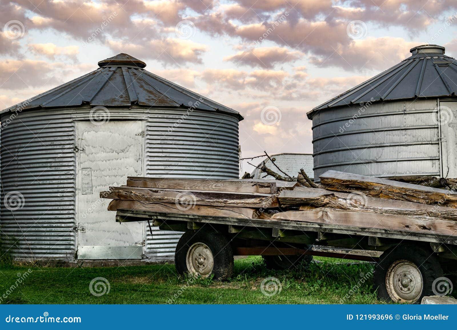 一个农厂场面在衣阿华