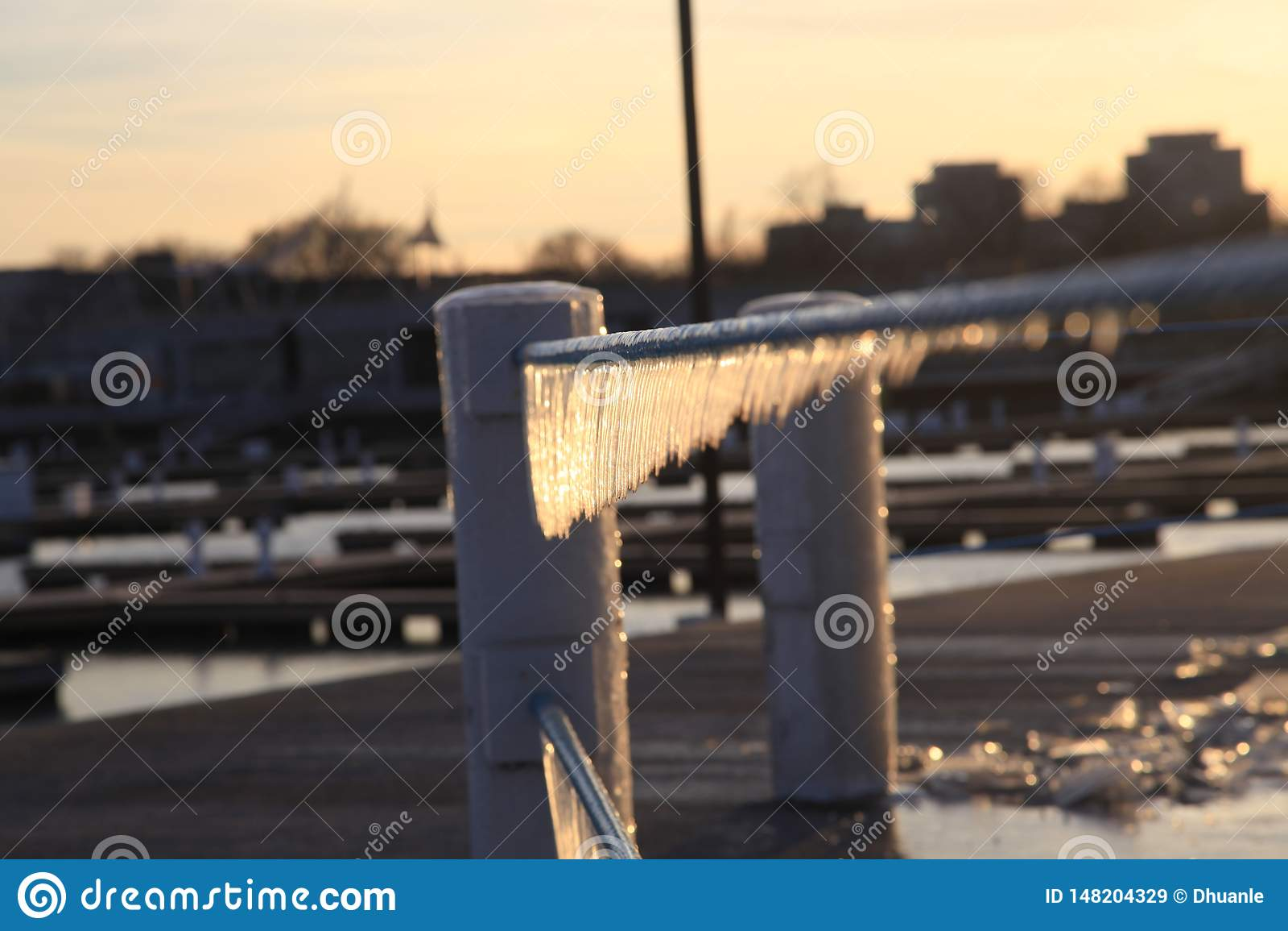 一个冬天视图在芝加哥