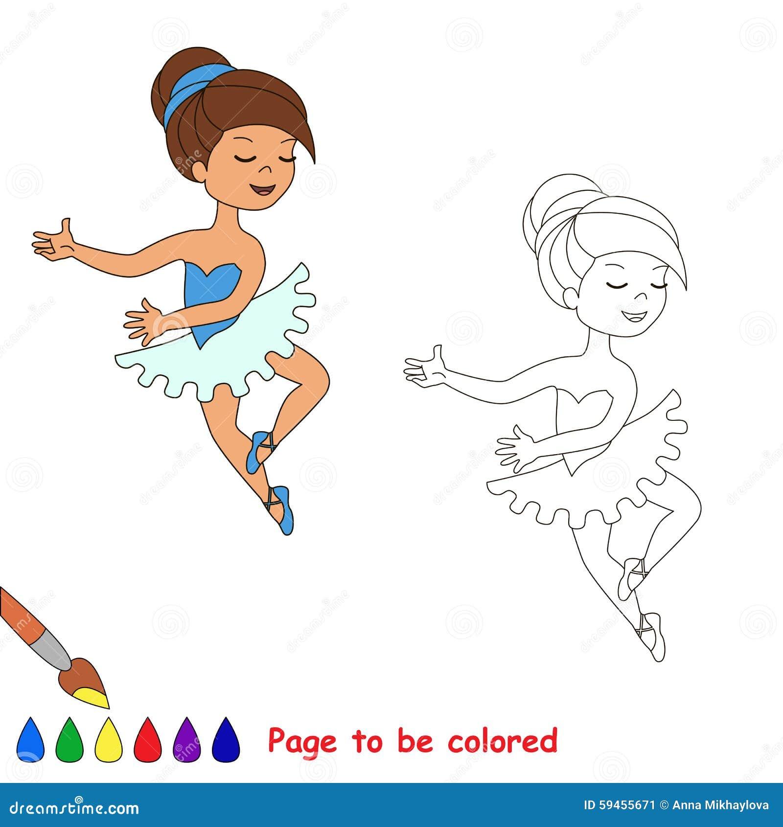 一个动画片俏丽的女孩舞蹈图片