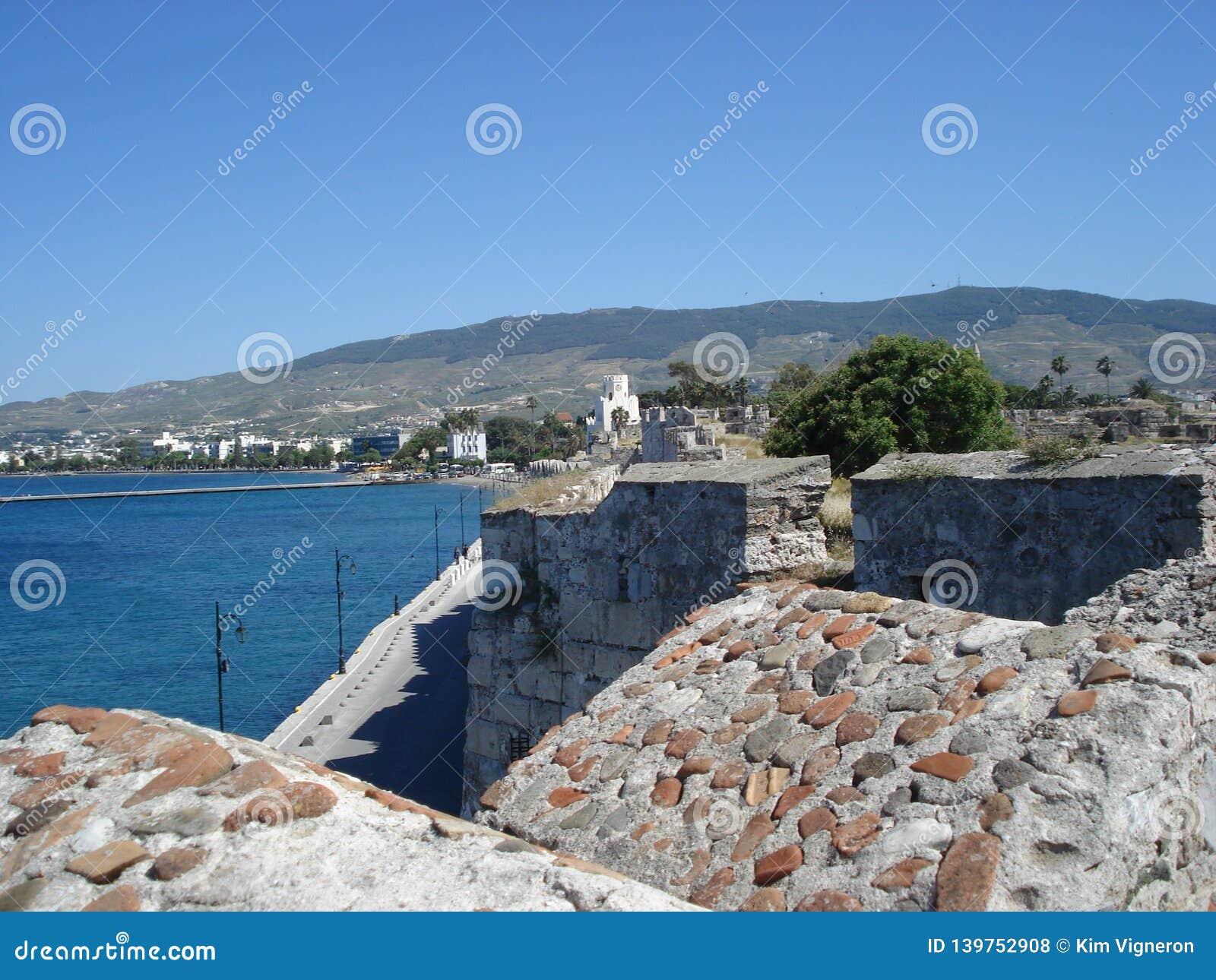 一个口岸在Kos,希腊