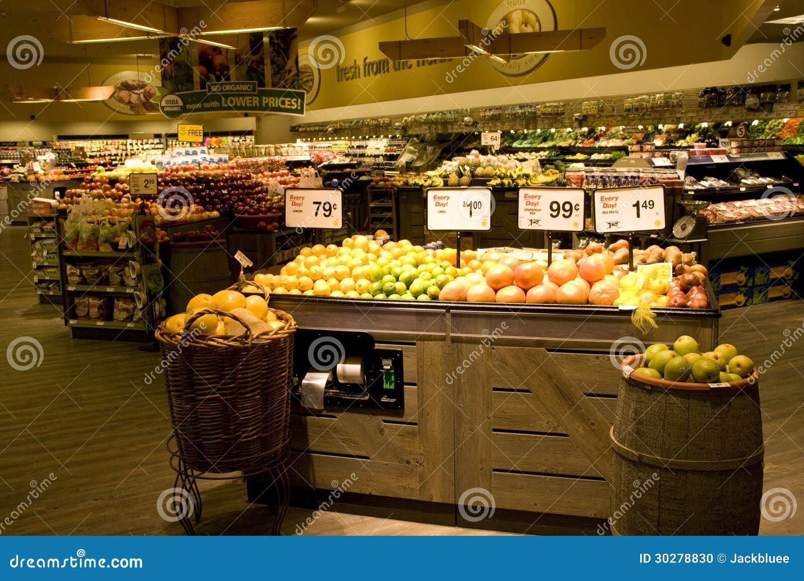 有有机选择的大杂货店