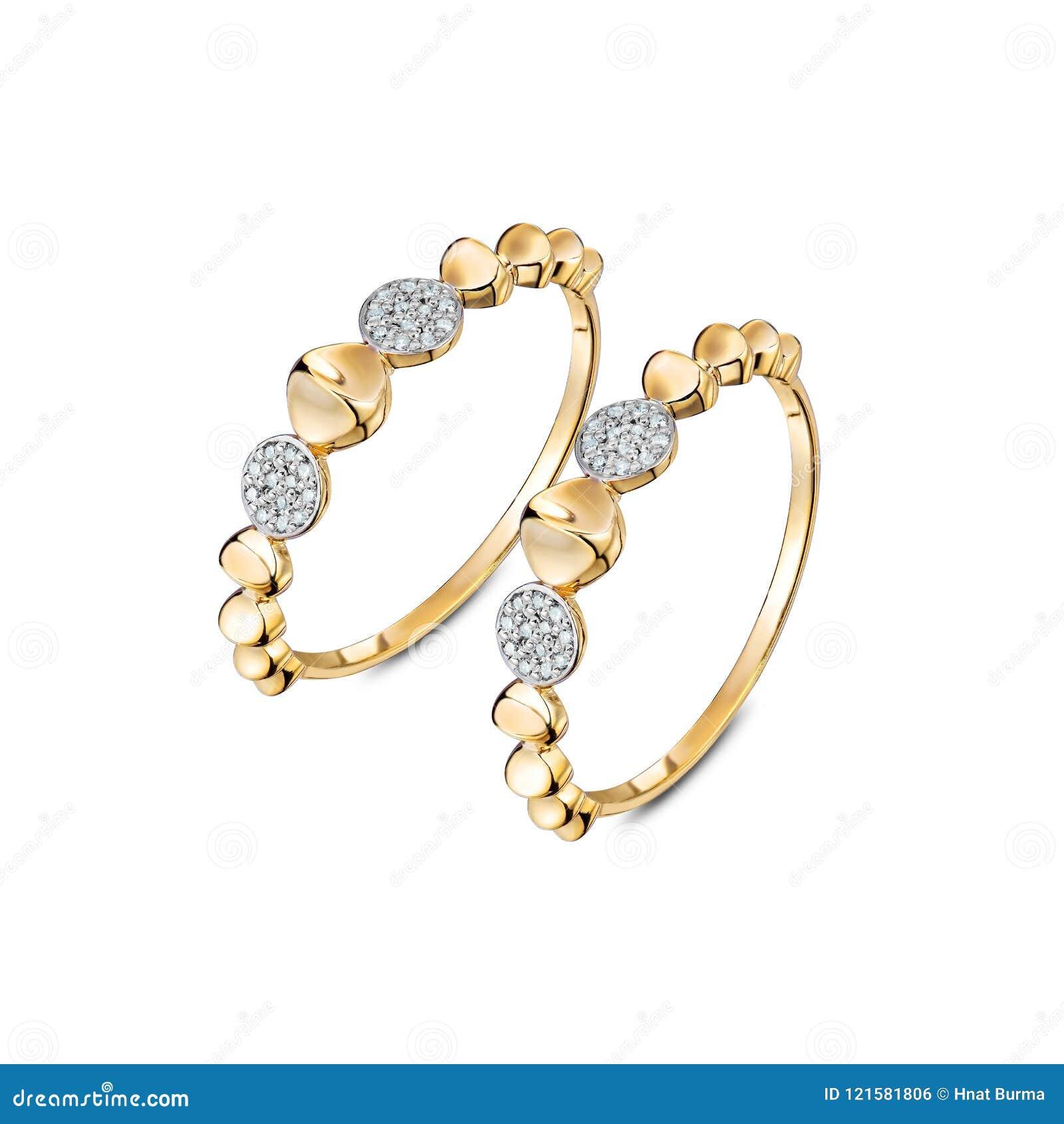 一个对豪华金银铜合金敲响与被隔绝的金刚石