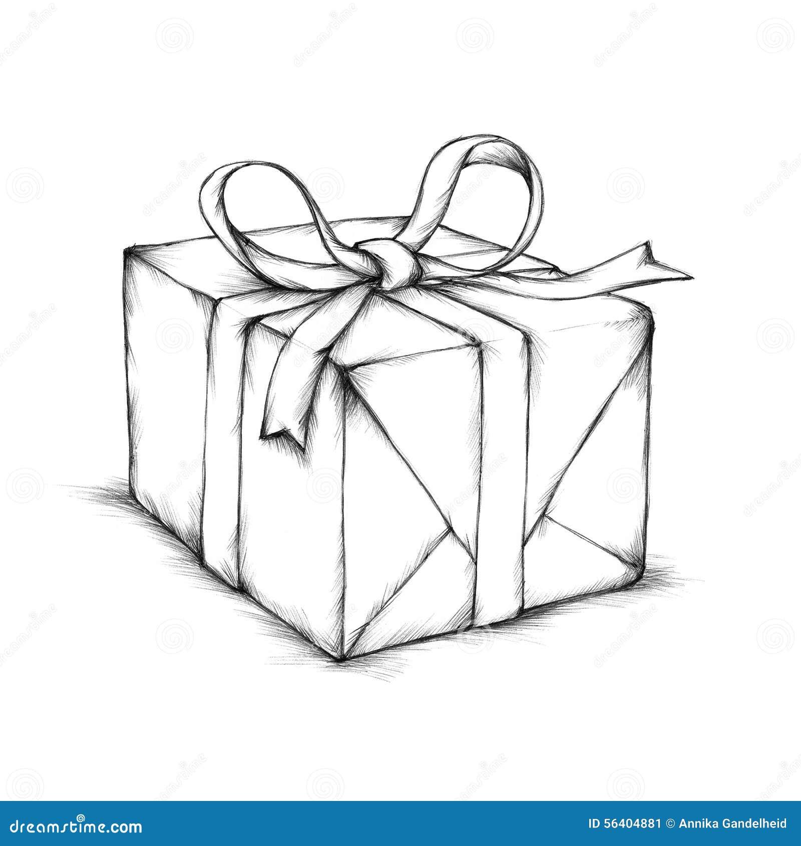 一个小礼物盒的例证没有颜色的.