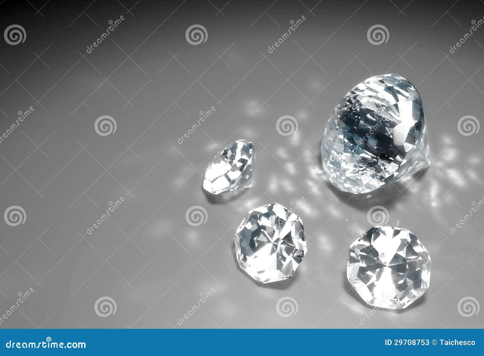 在地板上的四金刚石