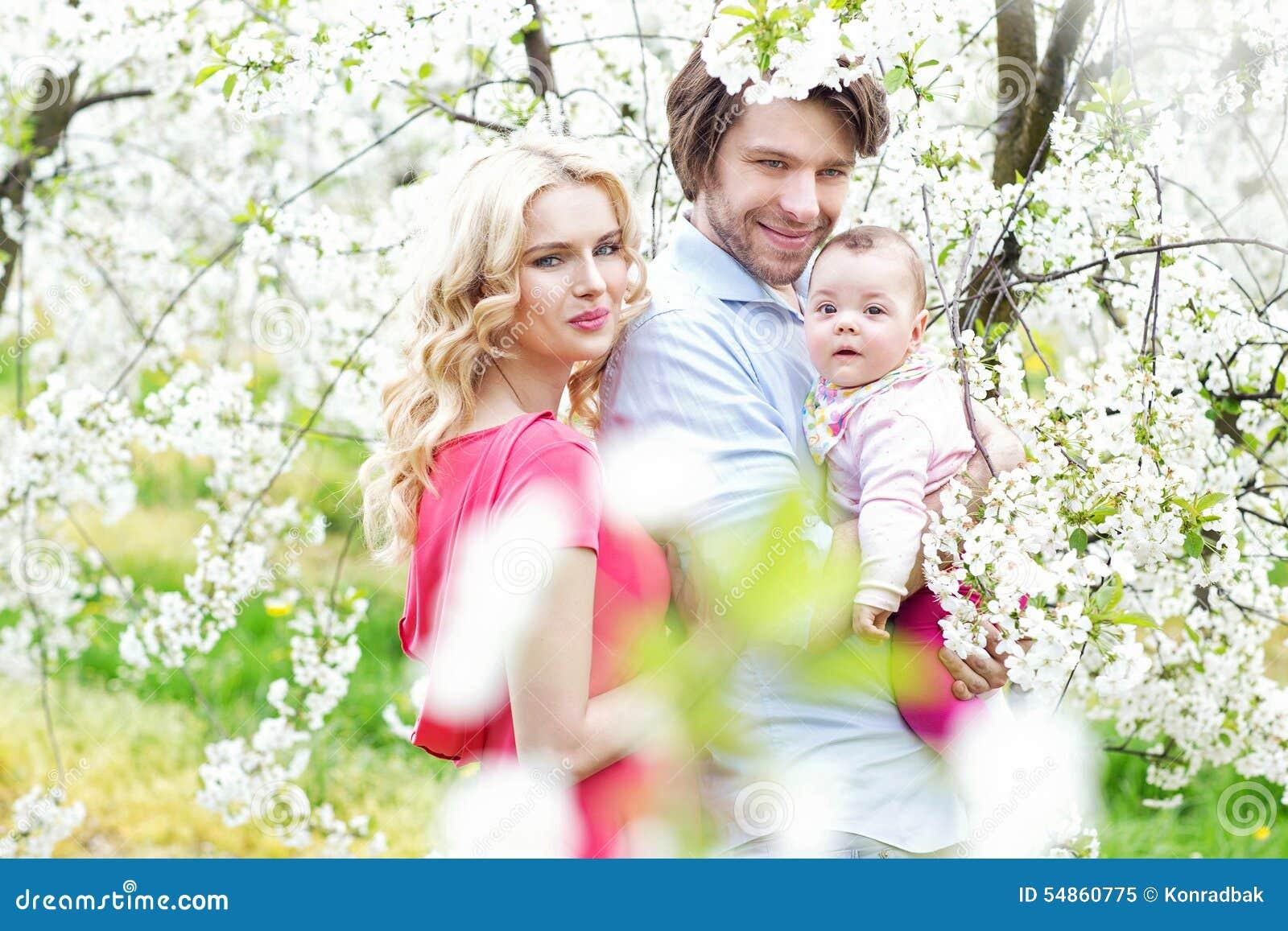 一个快乐的家庭的画象