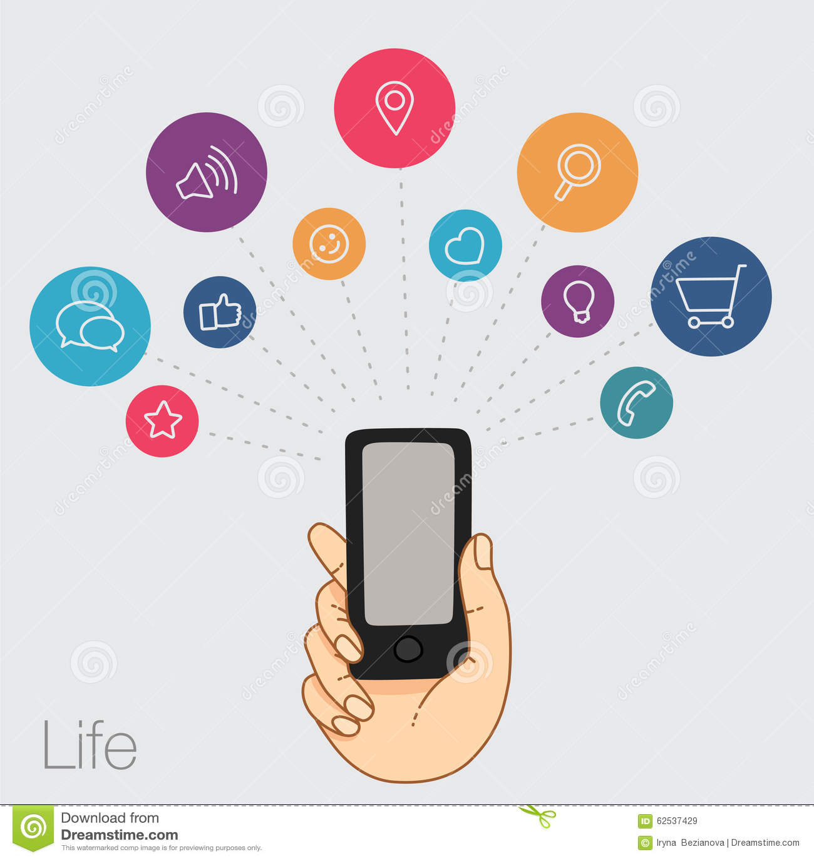 一个手机的示范显示