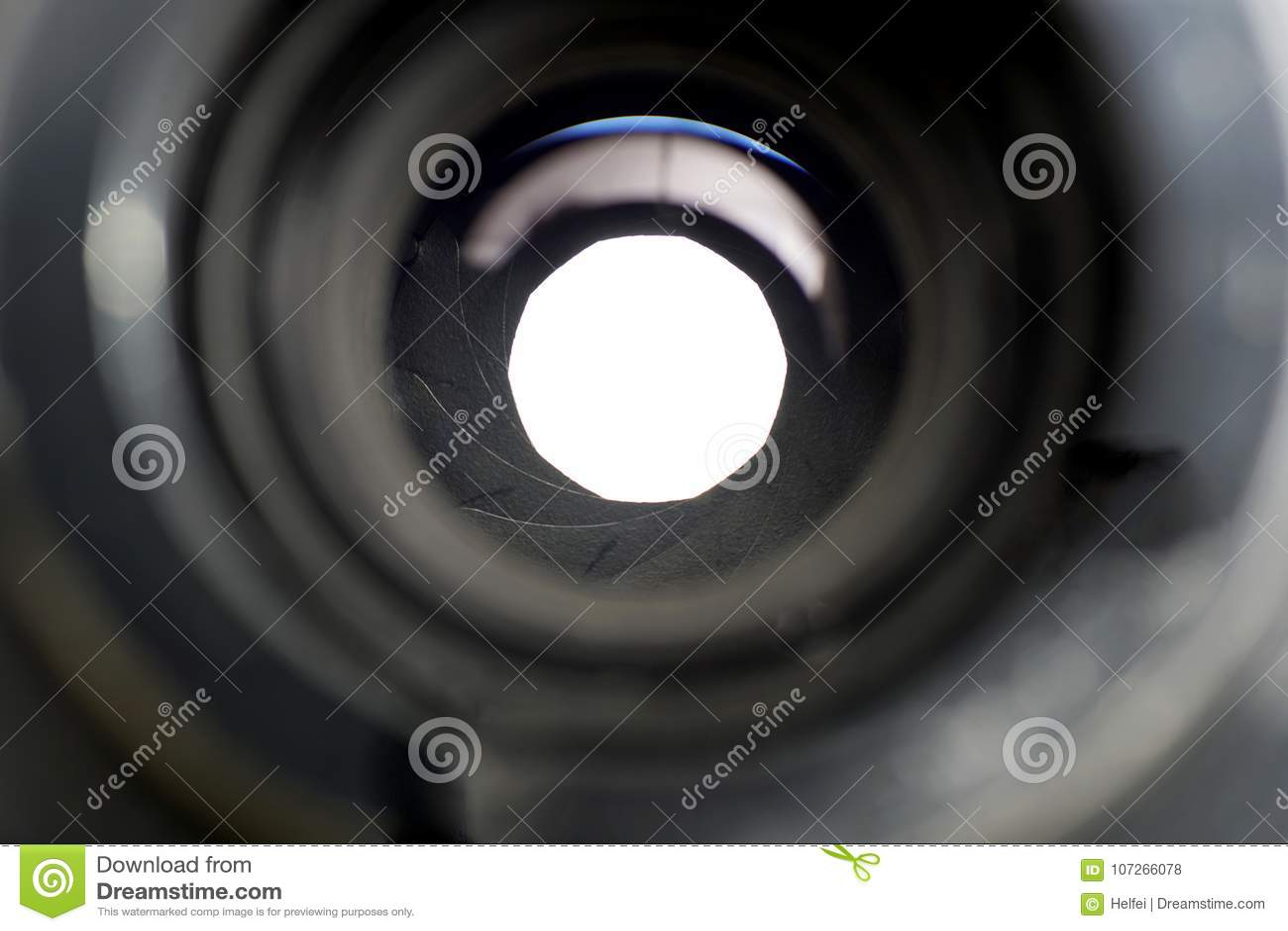 一个照片透镜的细节与