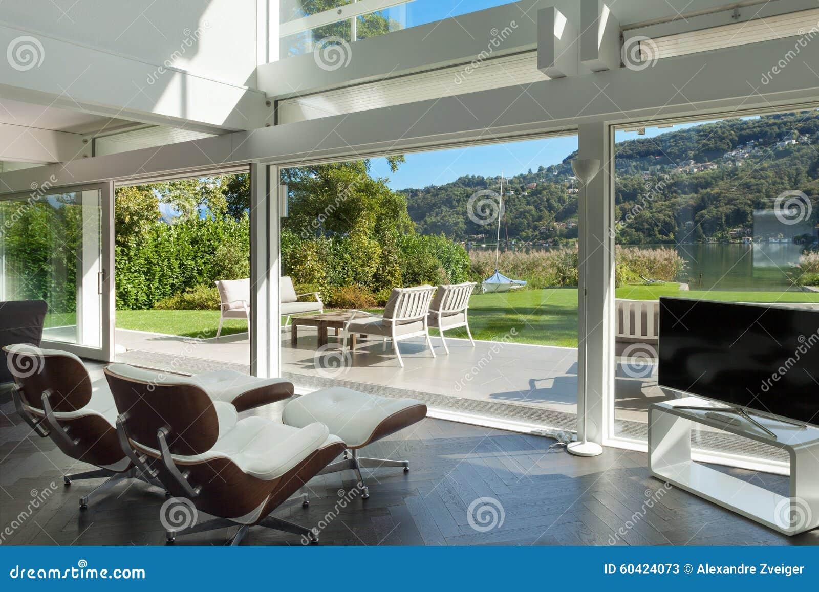 一个现代房子的客厅