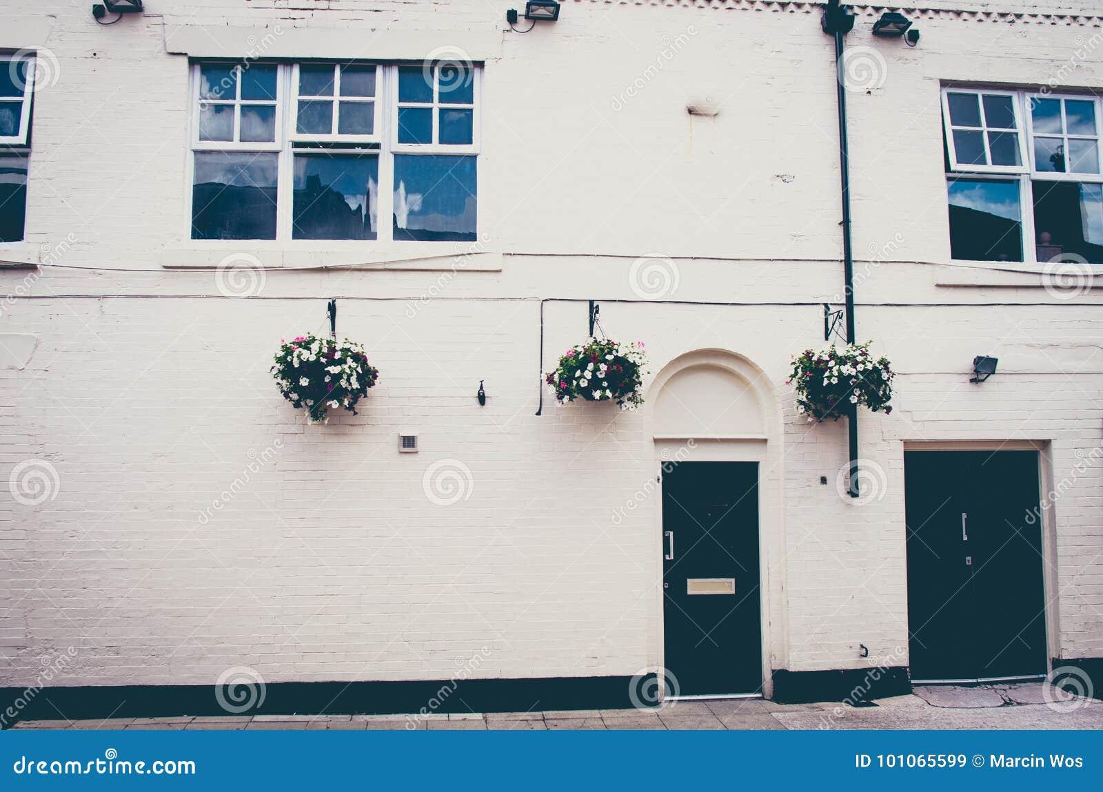 一个美好的英王乔治一世至三世时期时代英国城内住宅的外部