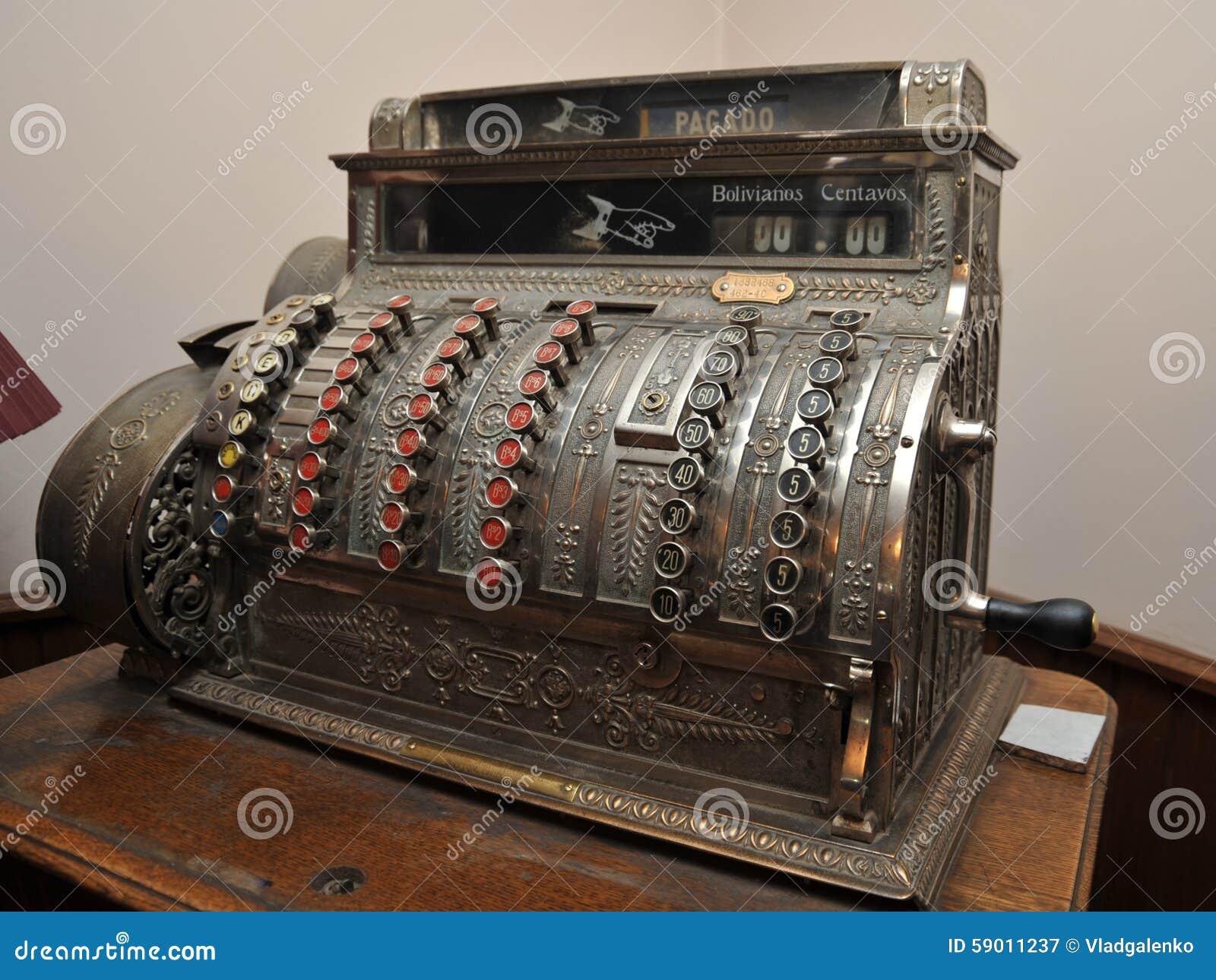 一个老收款机在波托西