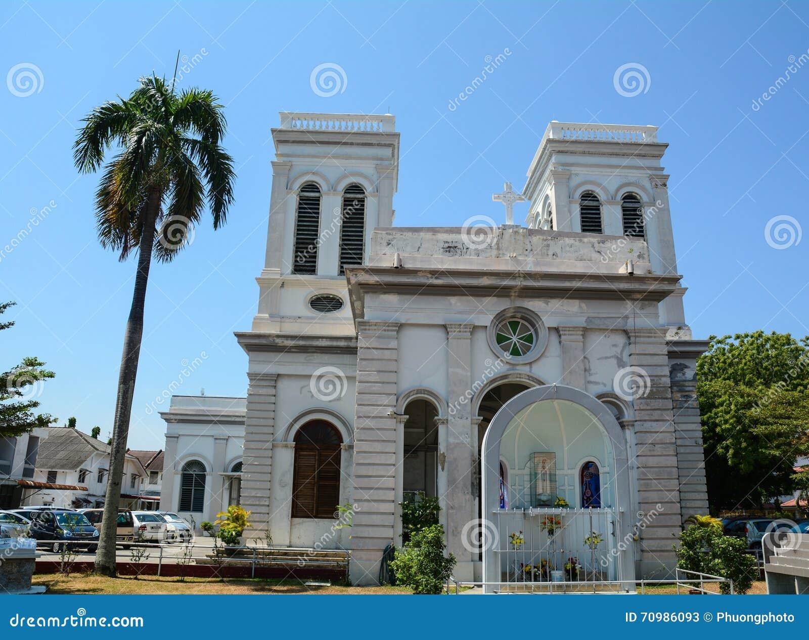 一个老教会在乔治城,马来西亚