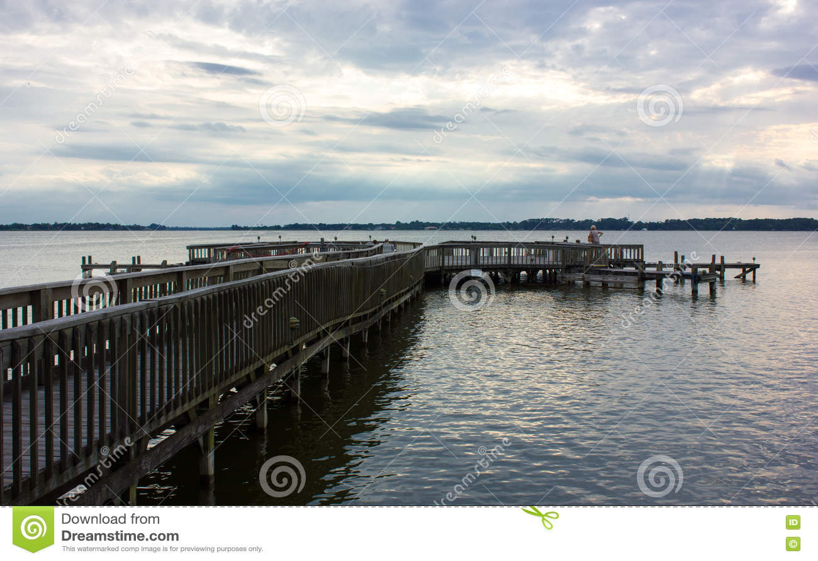 一个老码头在佛罗里达