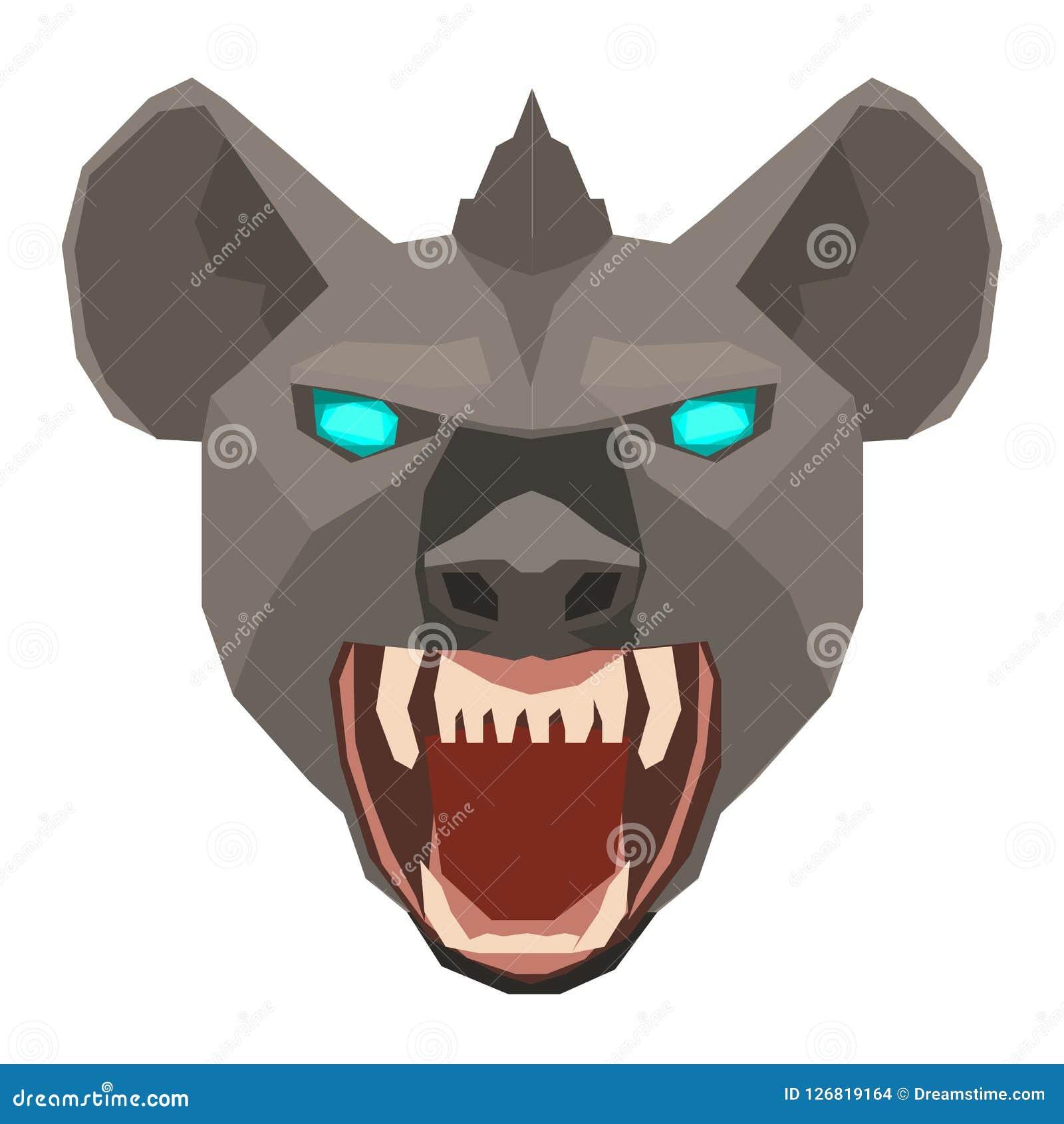 一个鬣狗Hyaenidae头设计的传染媒介在白色背景的 通配的动物 容易的层状例证