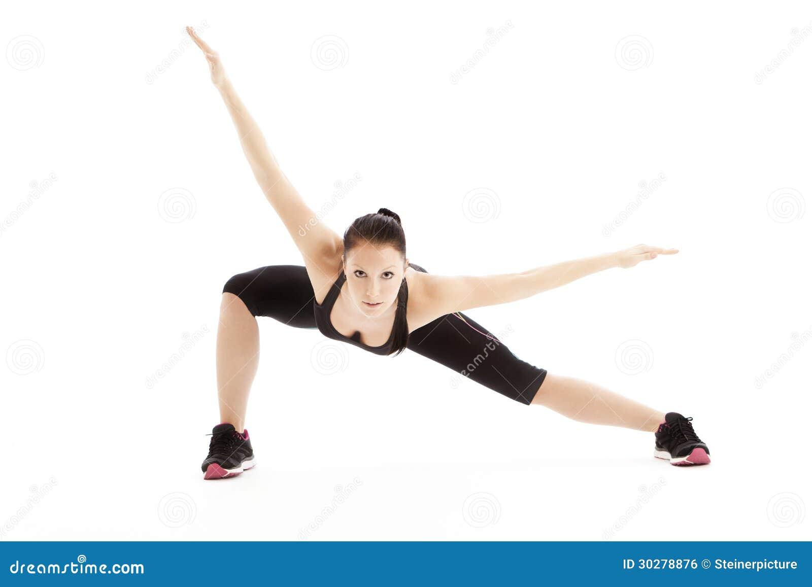 体操一位女性舞蹈家