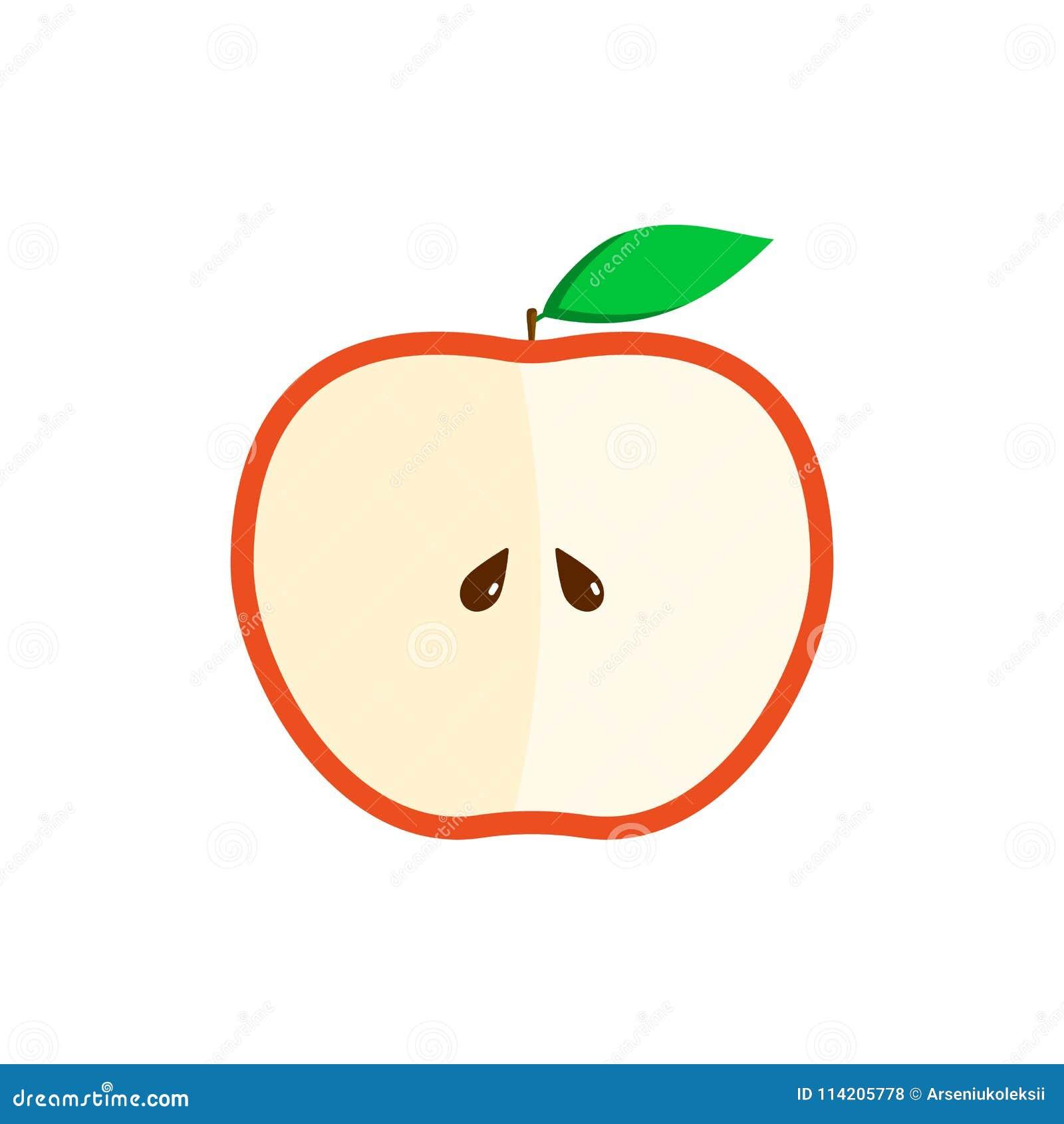 免版税  download comp 一半红色设计的苹果平的例证 申请人, 剪切图片