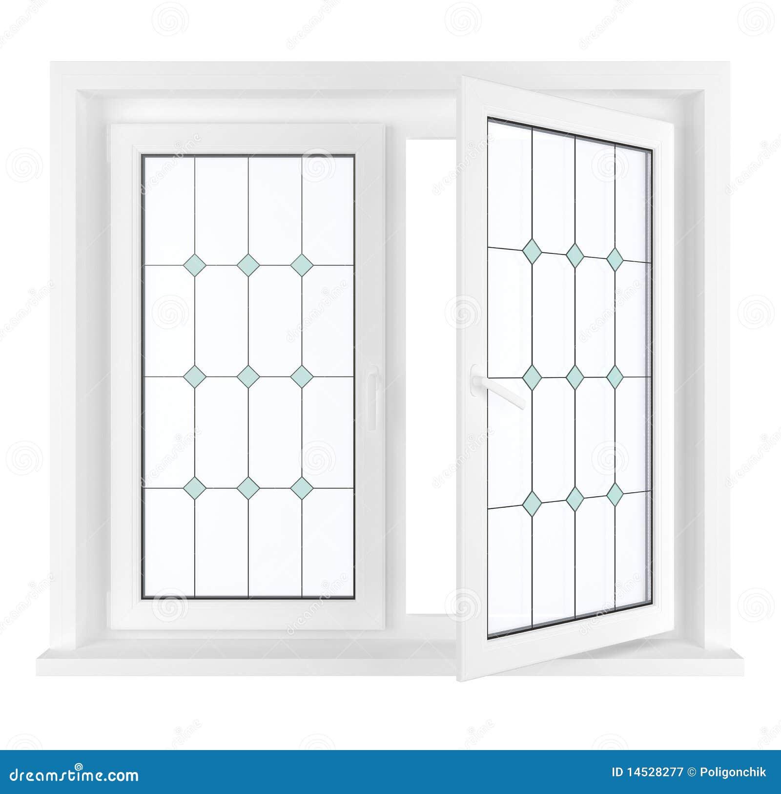 一半被开张的视窗
