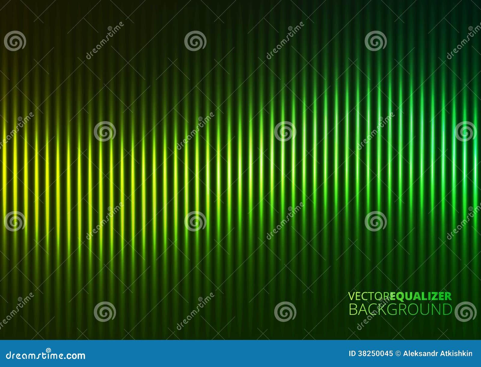 一台绿色音乐调平器的传染媒介例证