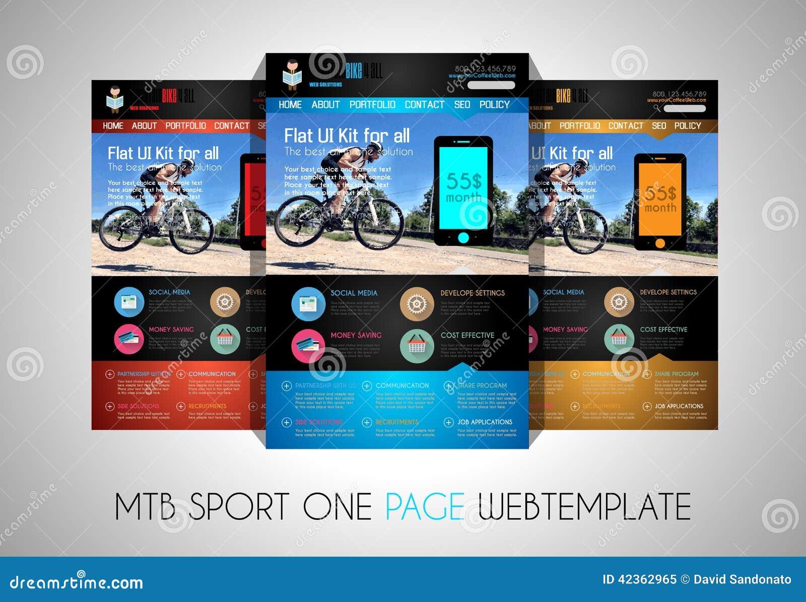 一块页体育网站平的UI设计模板