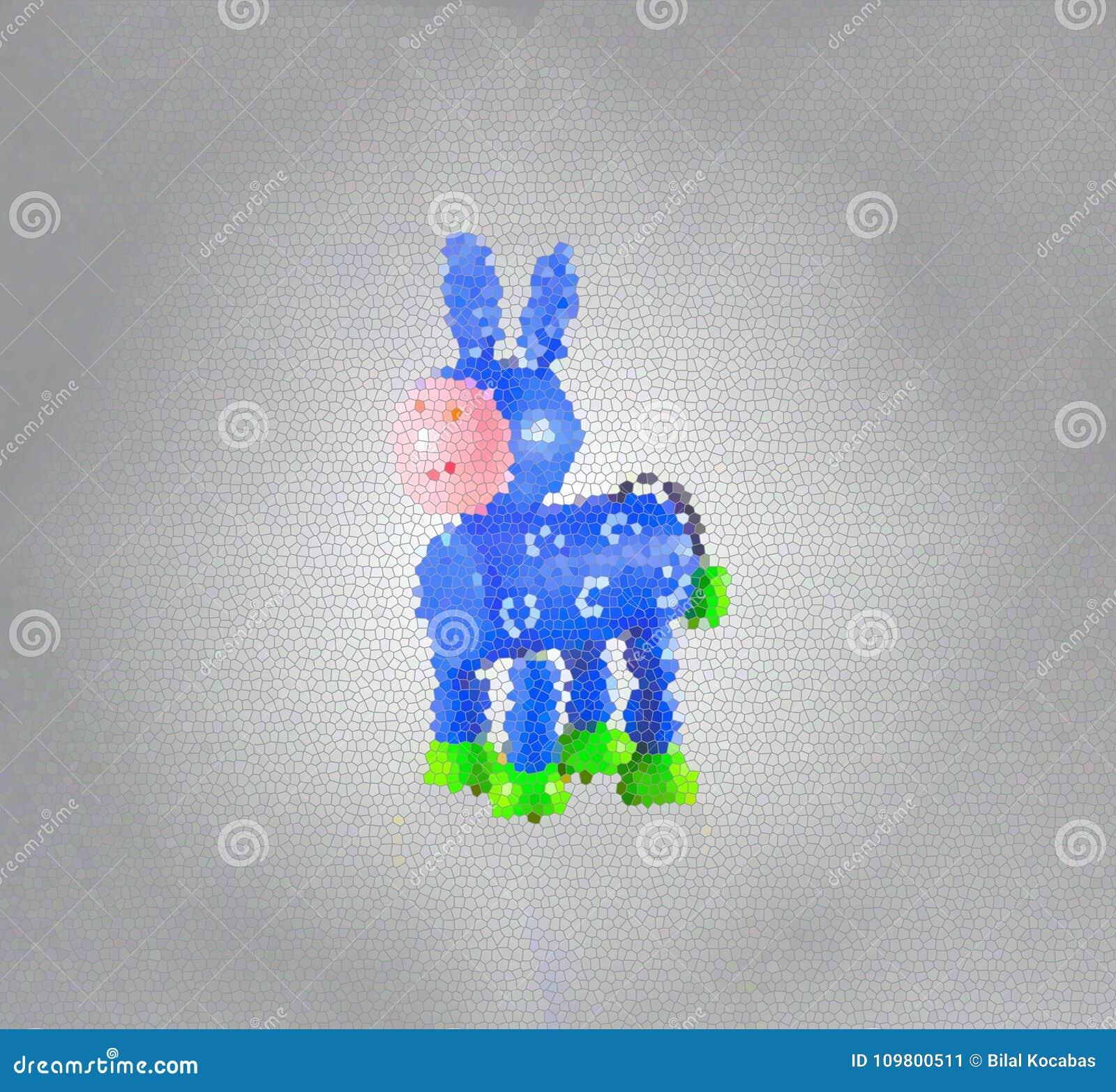 一头蓝色驴的例证