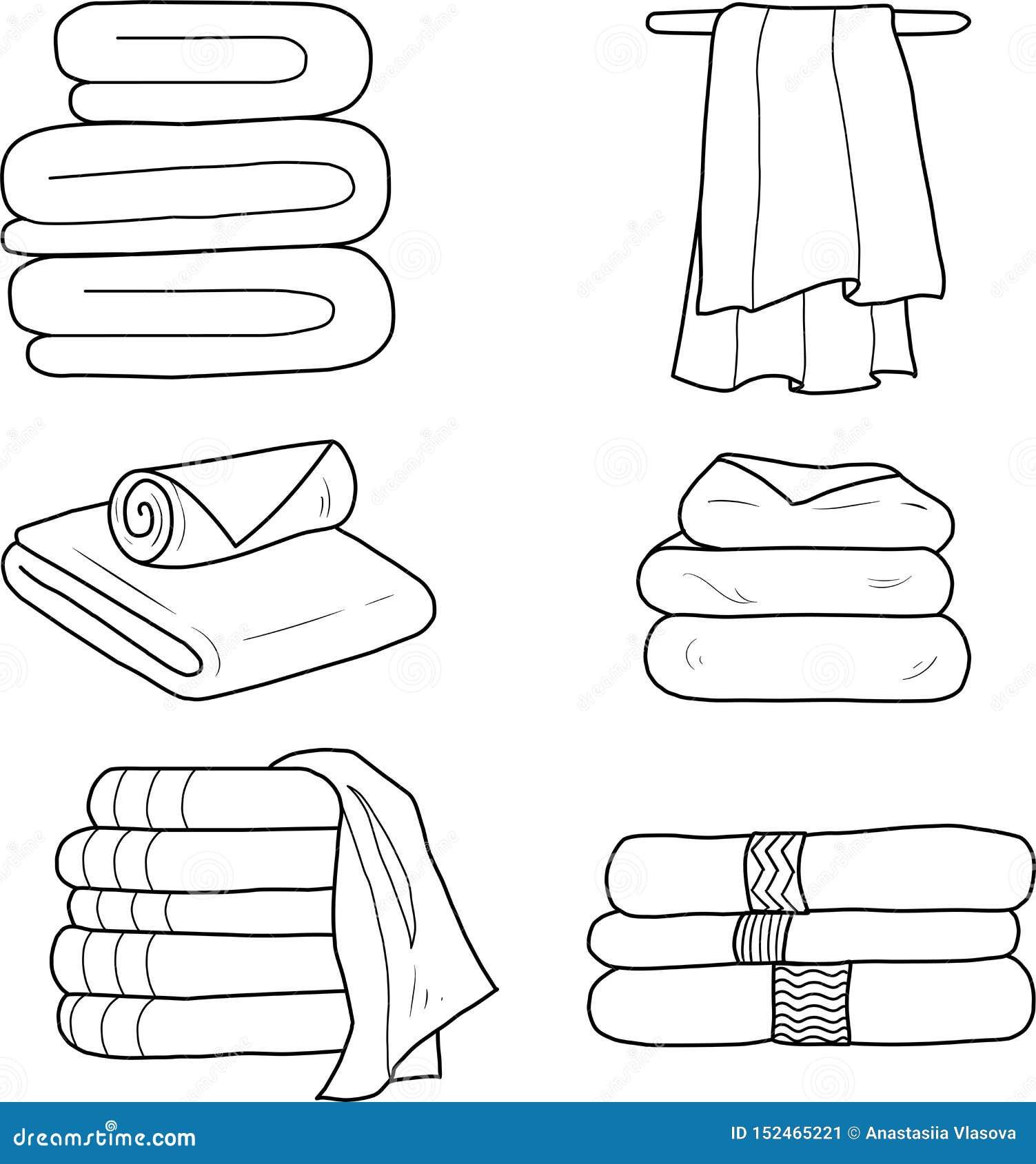 一套传染媒介线性毛巾