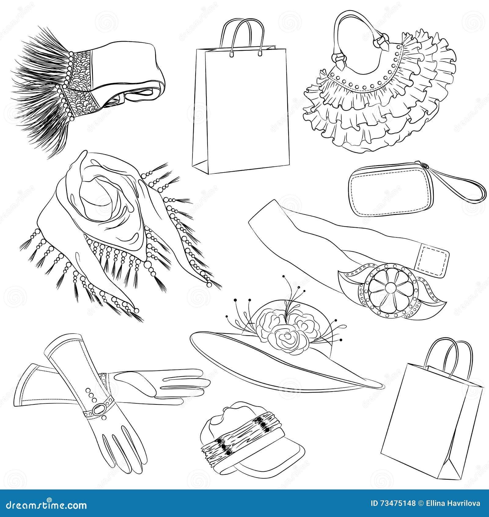 一套时装配件 各种各样的妇女的辅助部件