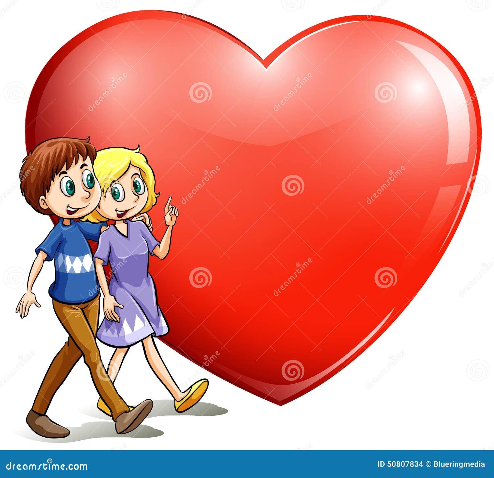 一对爱恋的夫妇