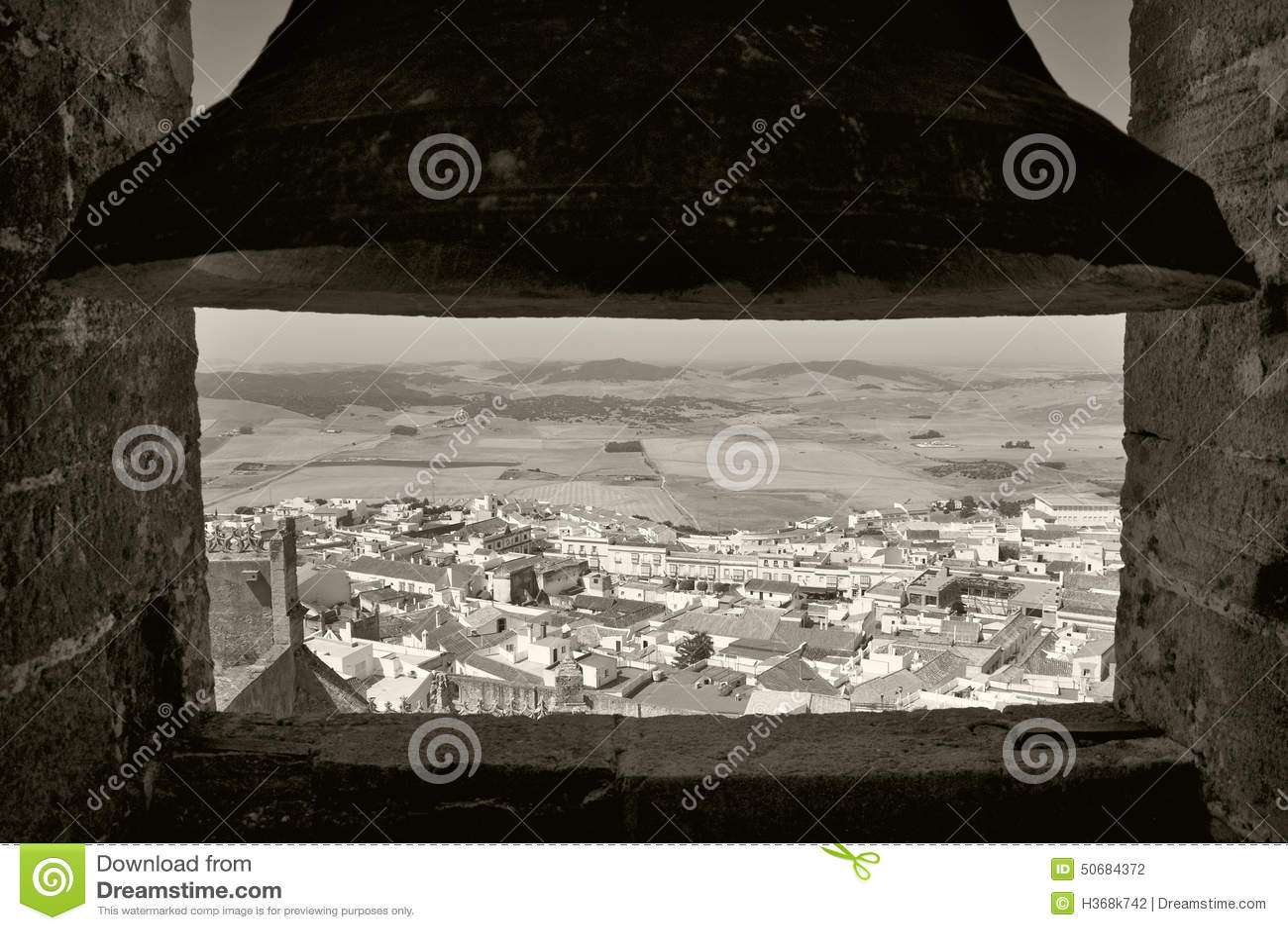 Download 从一座钟楼的安达卢西亚的村庄视图在西班牙 库存照片. 图片 包括有 城市, 视图, 西班牙语, 乡下, 沈默 - 50684372