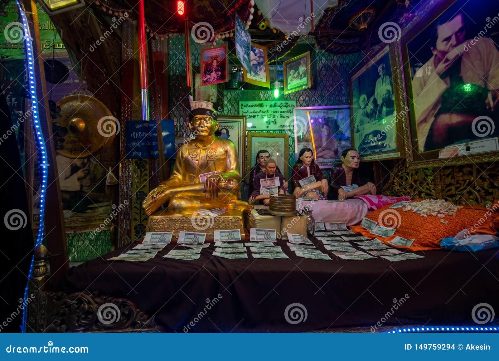 一房子著名nat在登上波帕岛顶部的寺庙在曼德勒缅甸