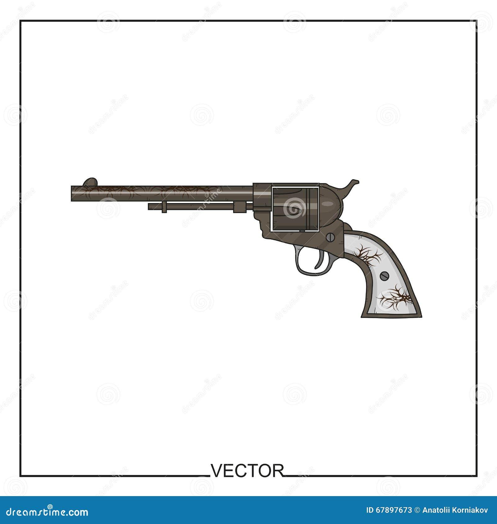 一把老左轮手枪的传染媒介例证