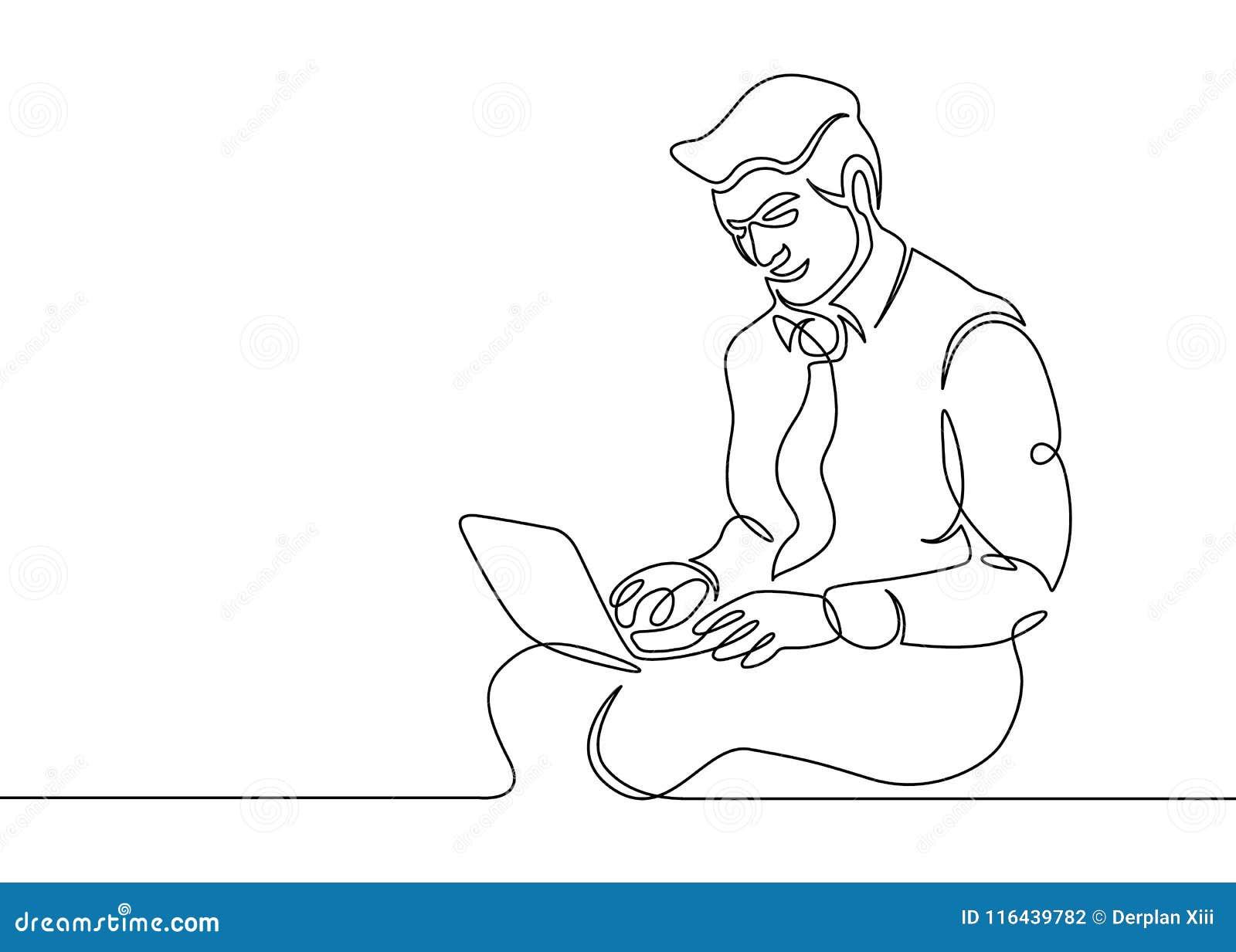 一条线膝上型计算机行家