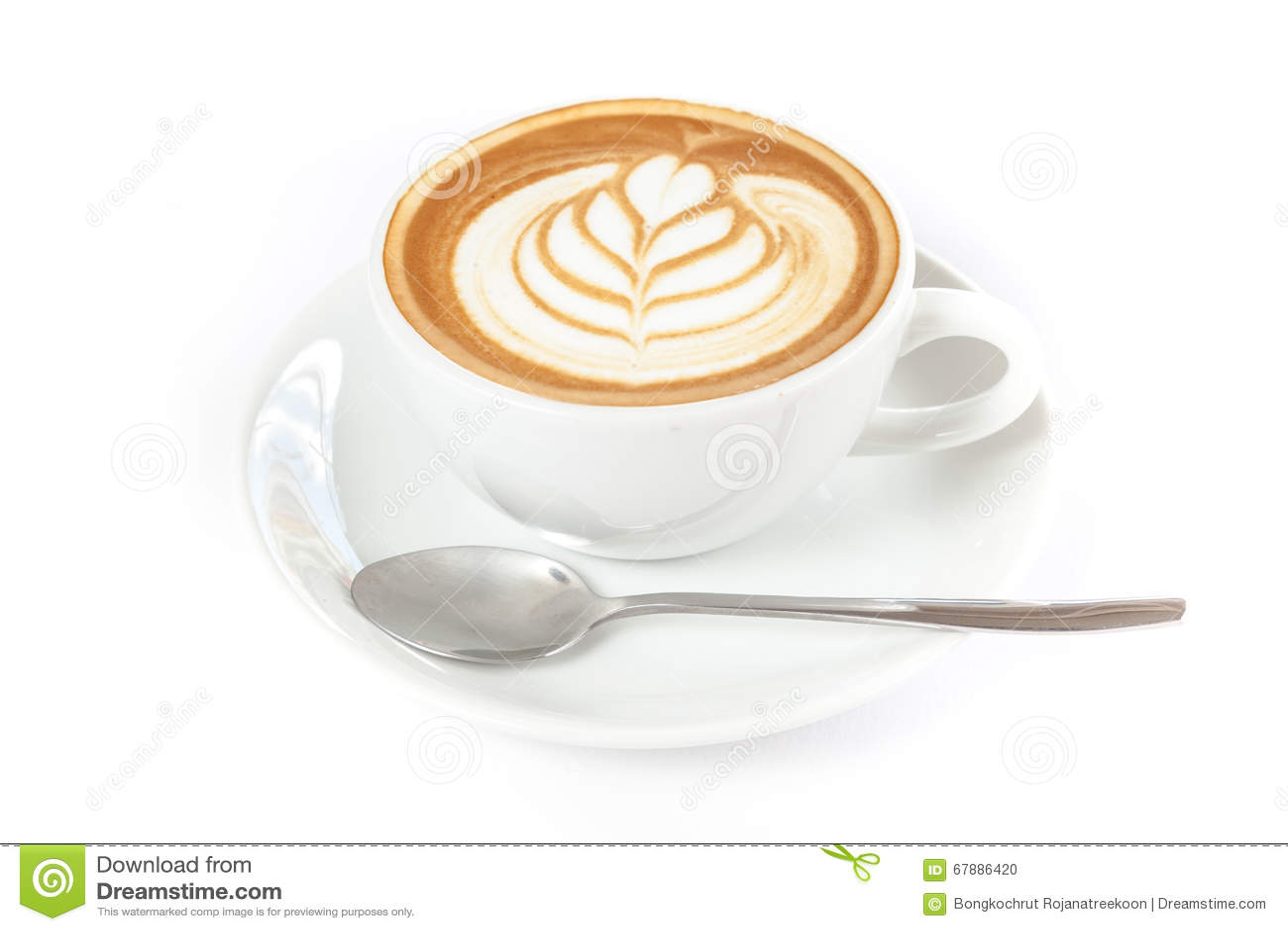 一杯咖啡与拿铁艺术的在上面