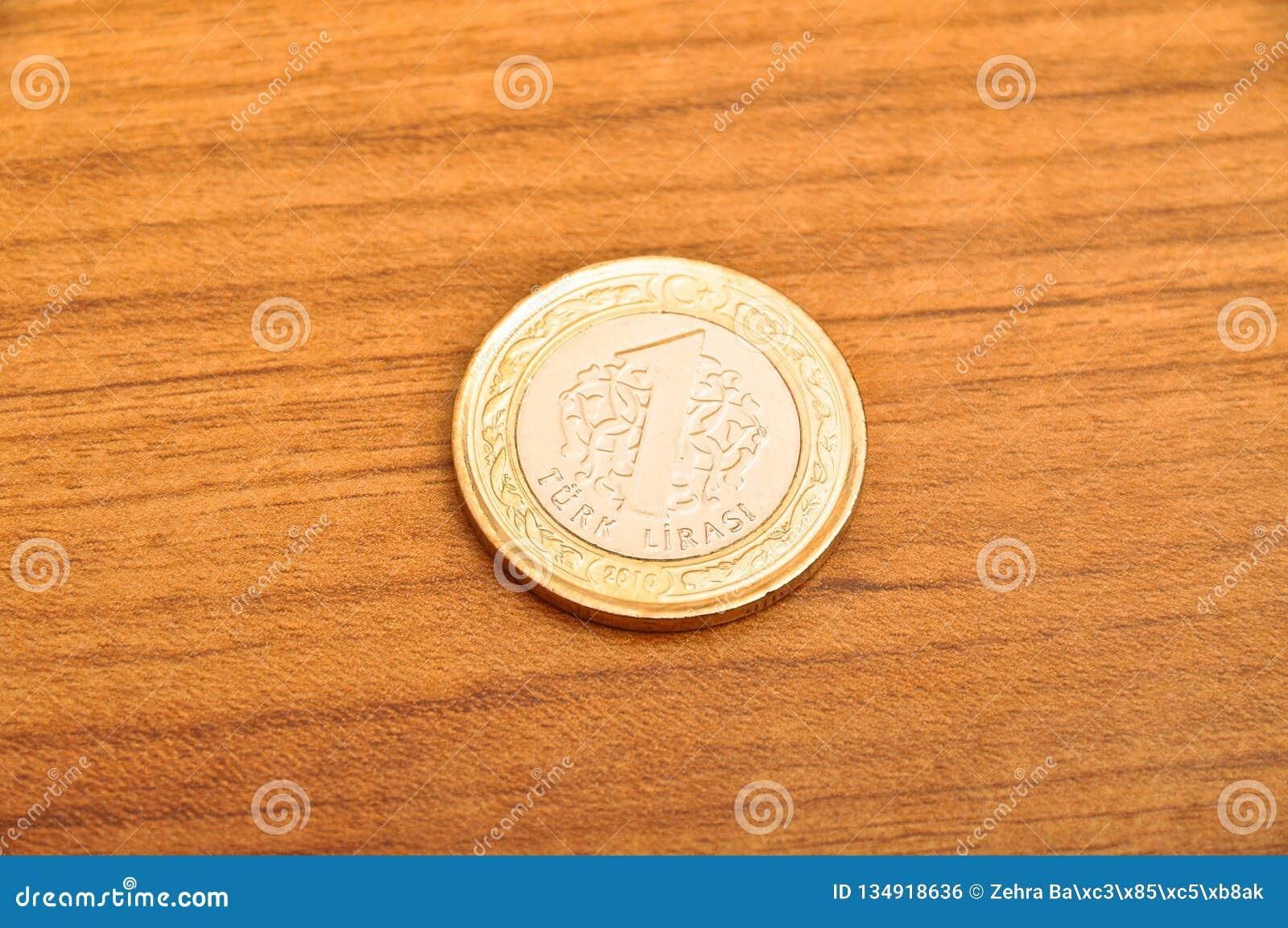 一枚土耳其里拉硬币