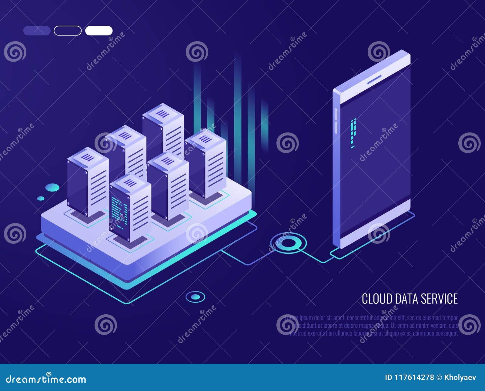 一种云彩数据服务的等量设计观念智能手机的 加载和下载的过程