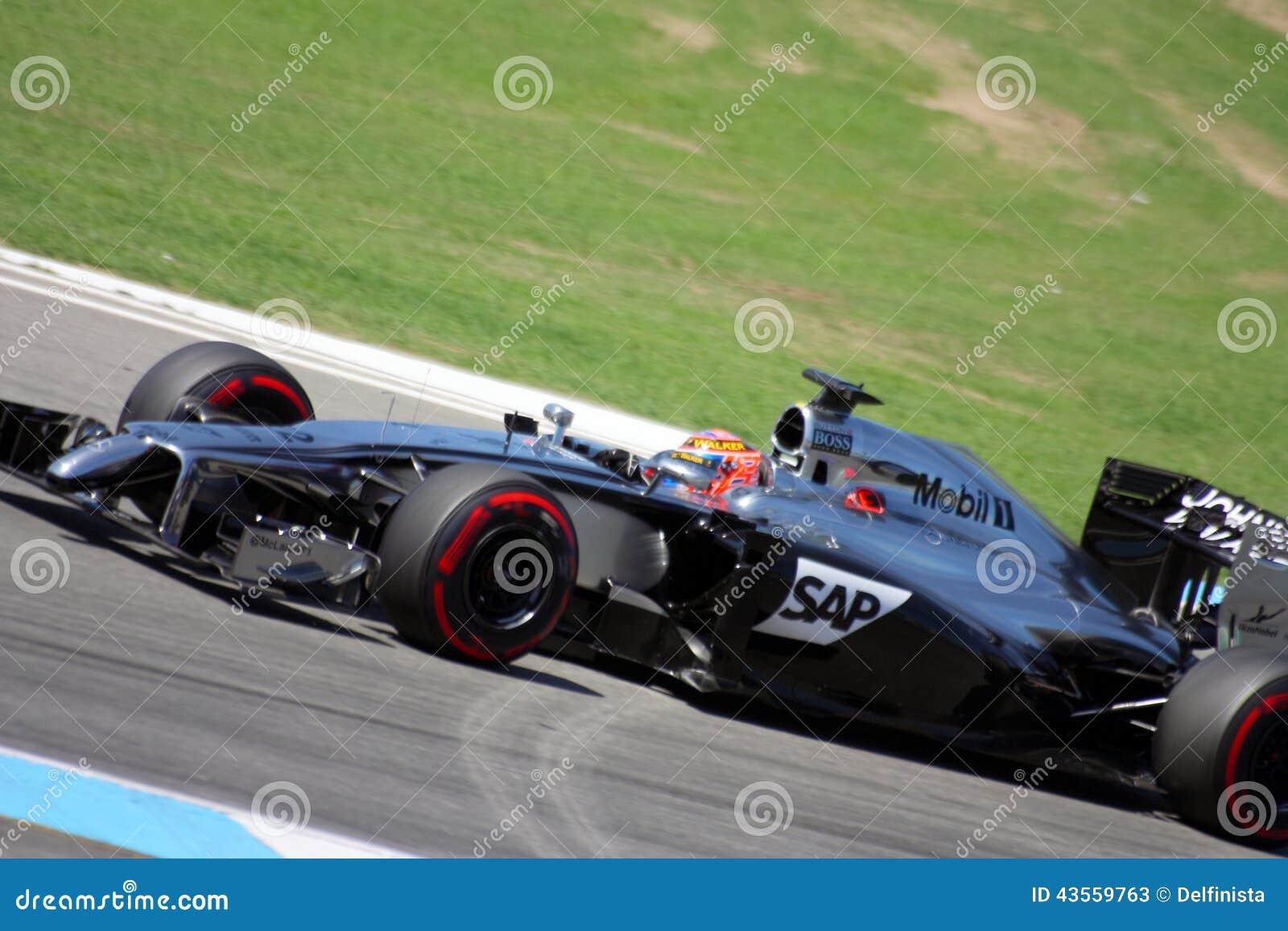一级方程式赛车迈凯轮默西迪丝汽车:简森・巴顿- F1照片