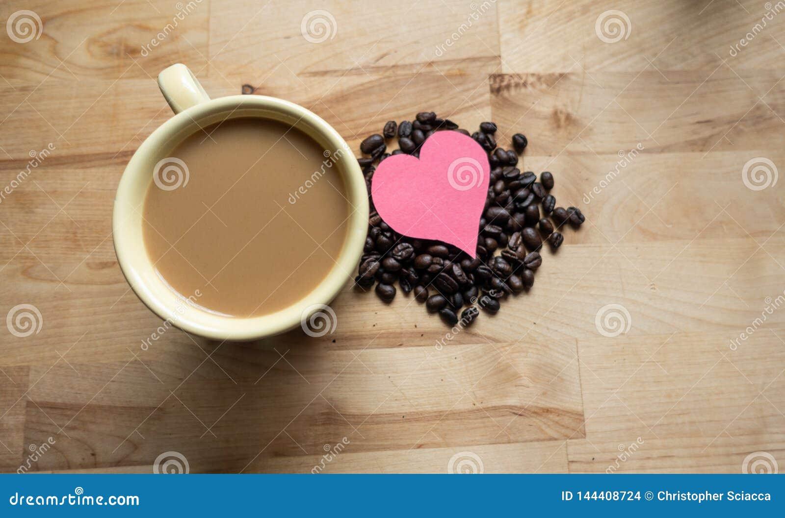 一起心脏和咖啡