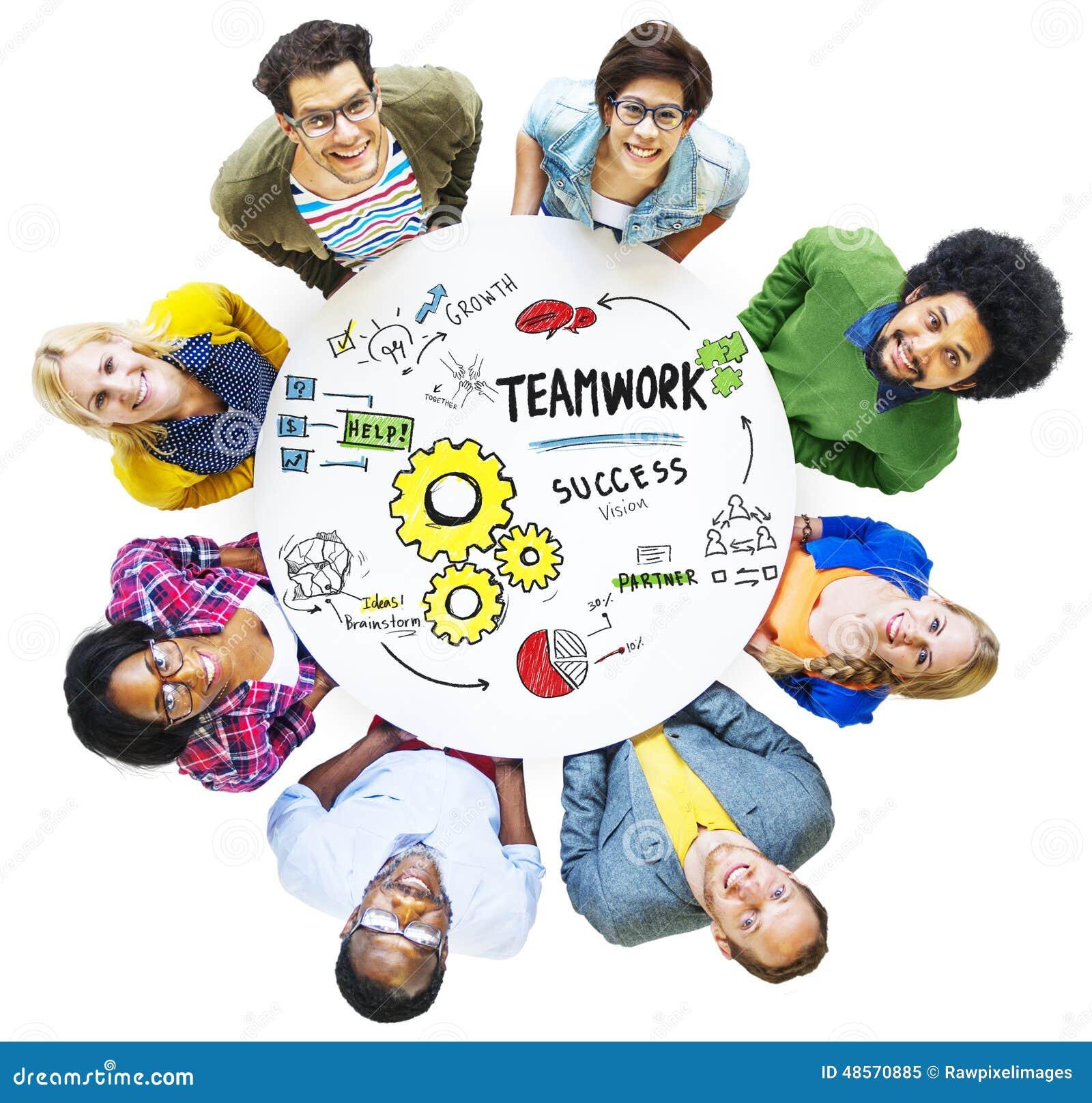一起配合队查寻概念的合作会议