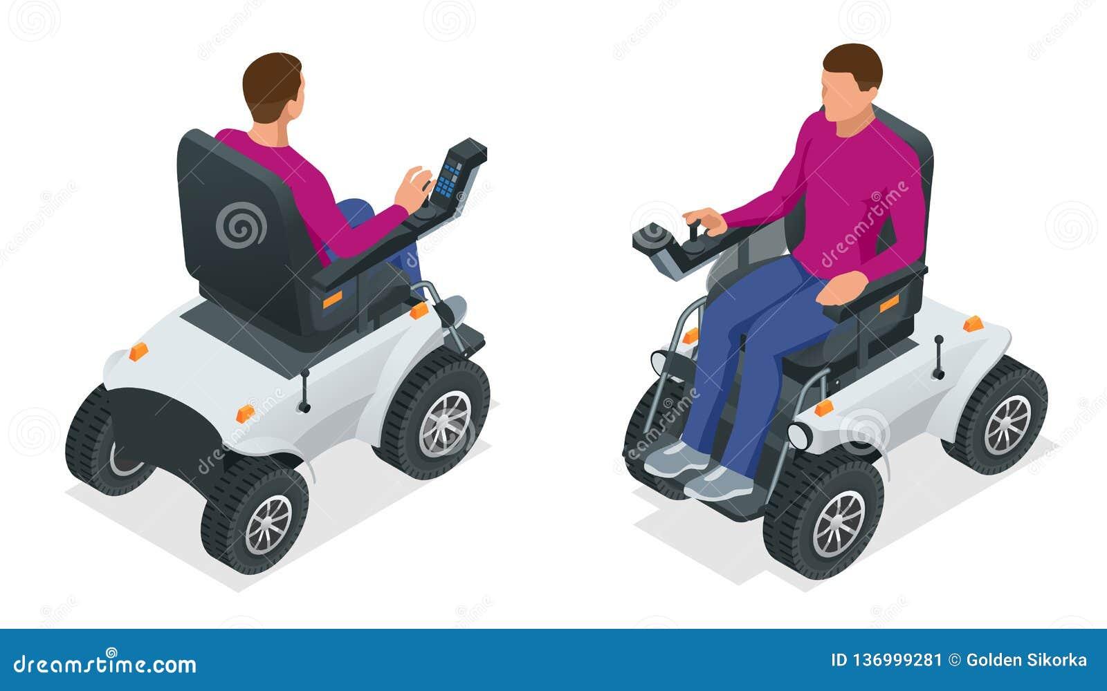 一辆电动轮椅的等量人 新的大动力化的电动轮椅 流动滑行车