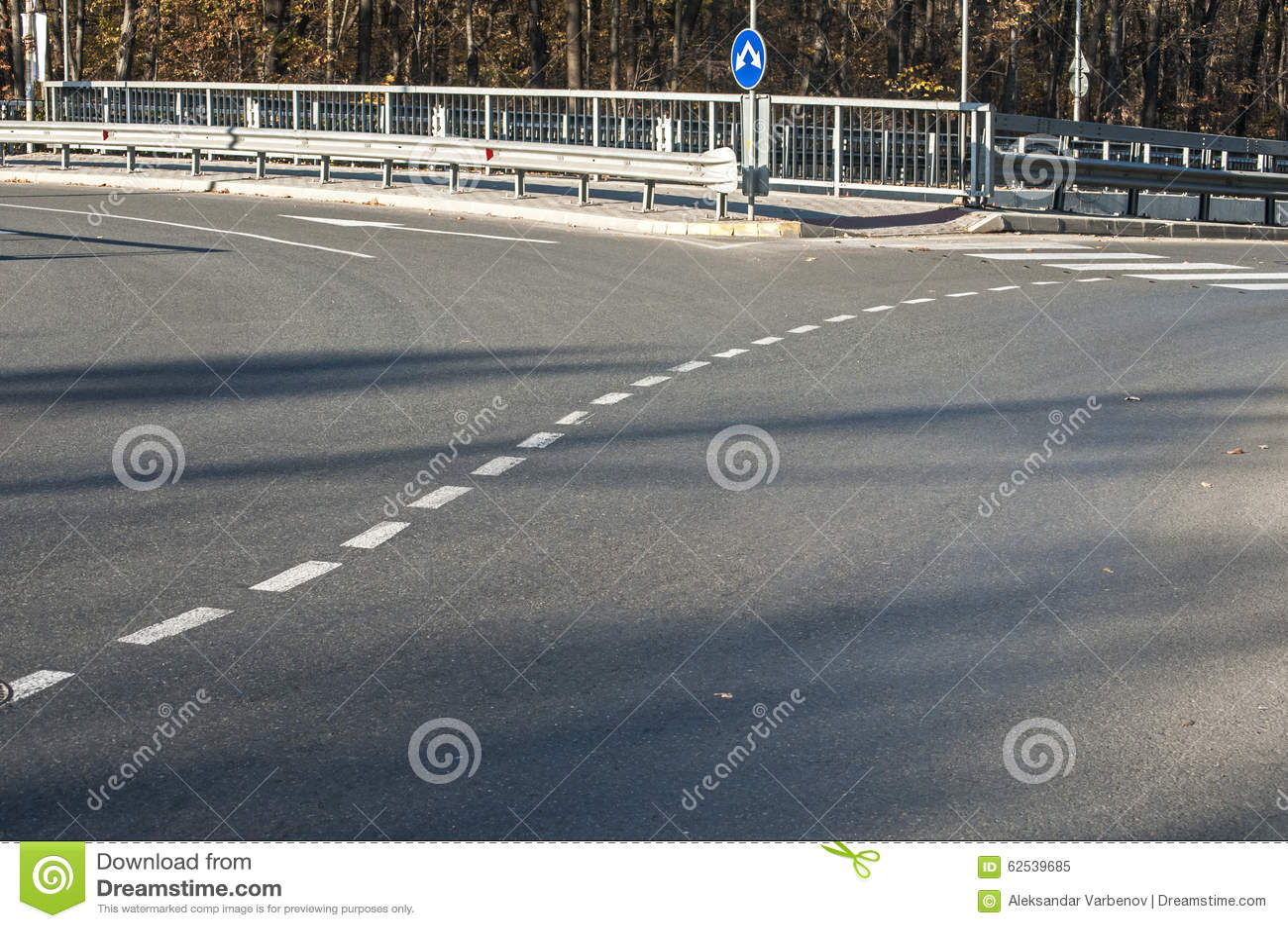 一部分的柏油路环形交通枢纽