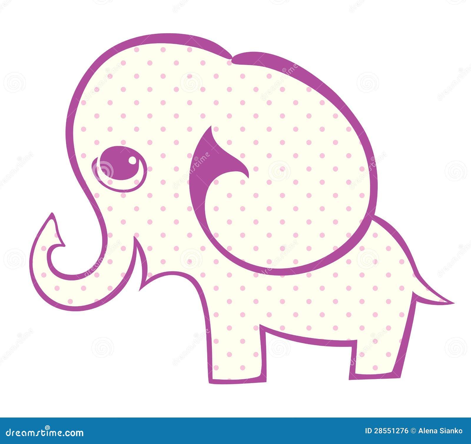 一头小的大象的剪影图片