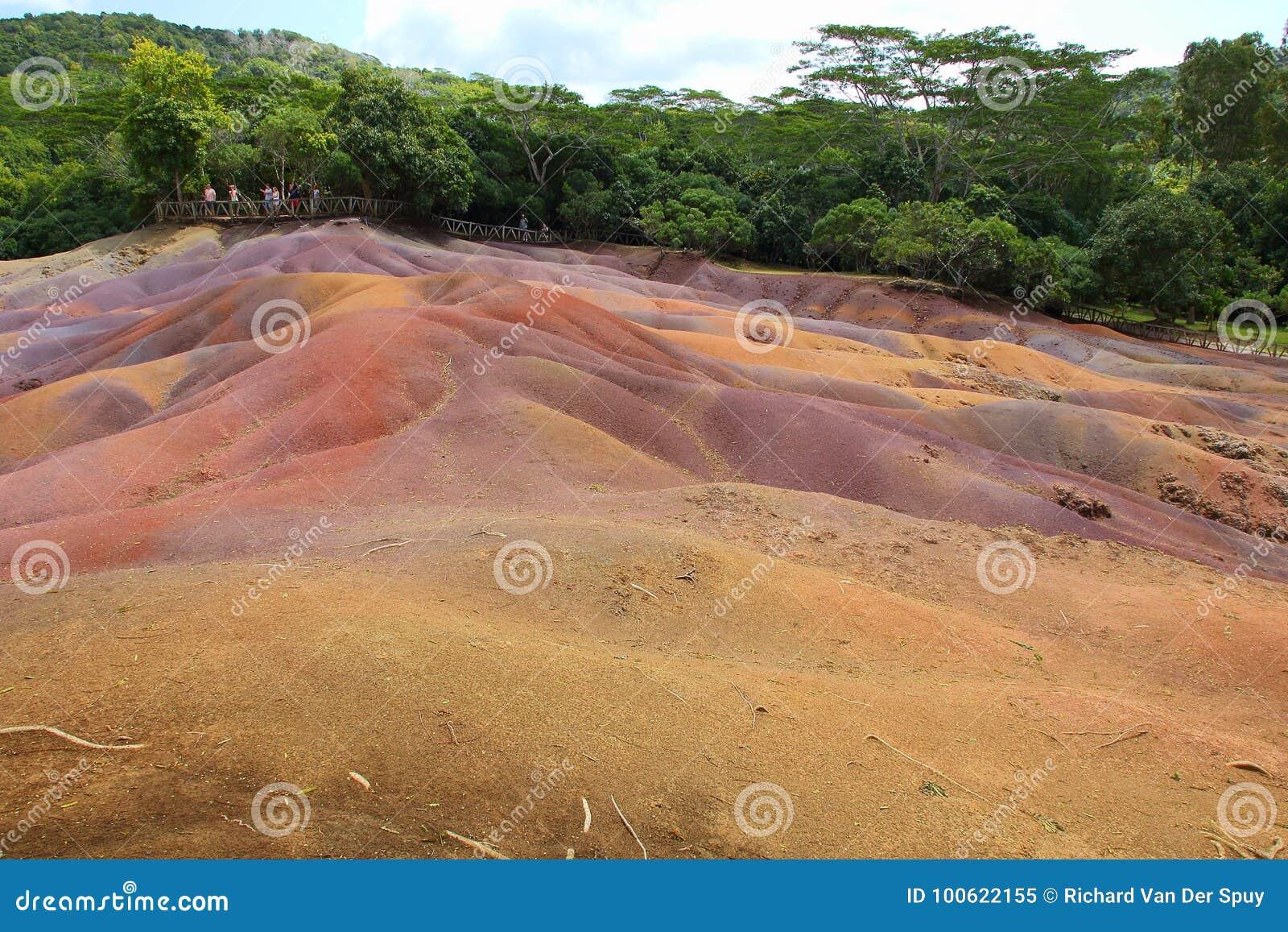 七色的地球Chamarel毛里求斯