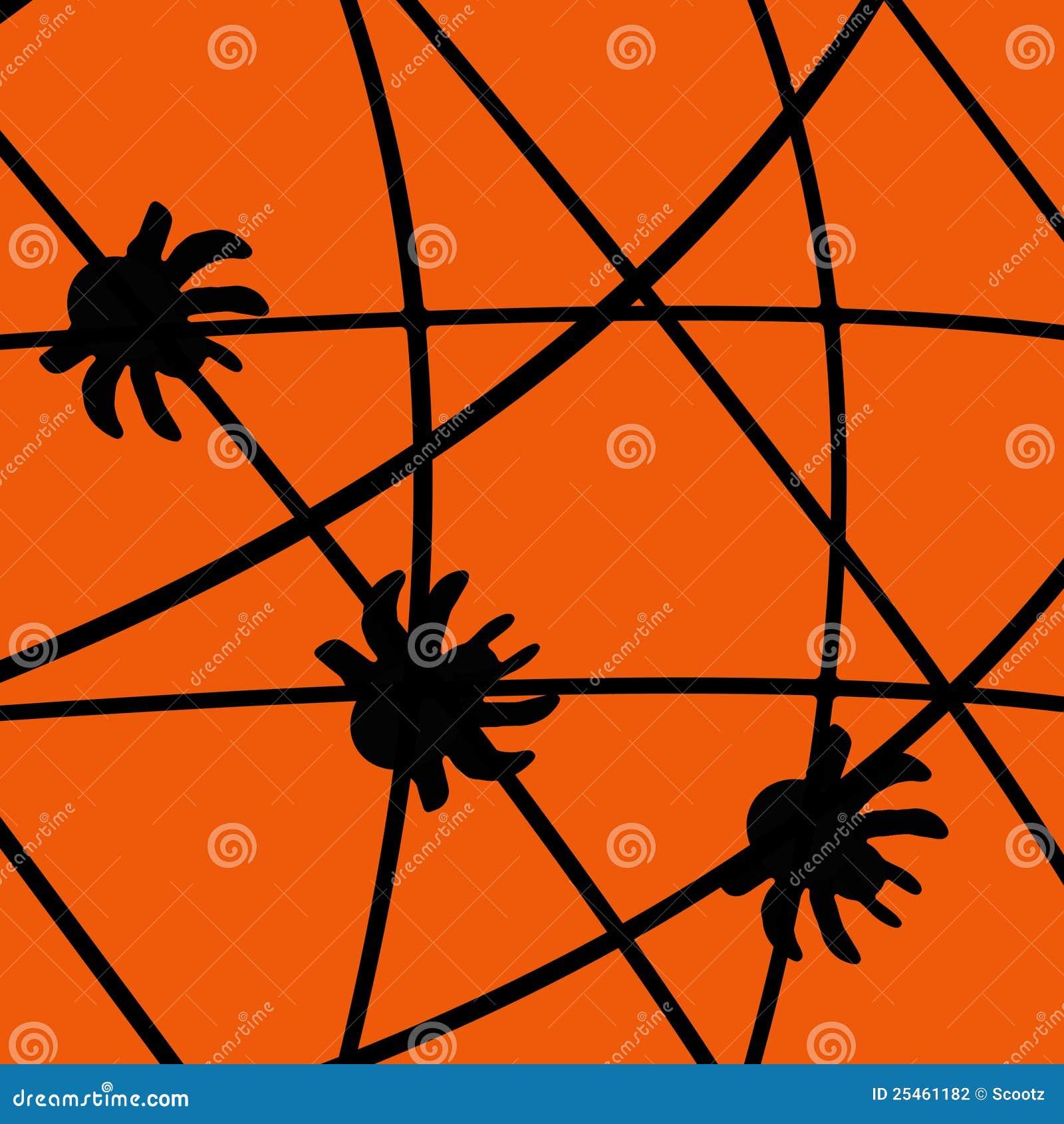 黑色万圣节例证海报蜘蛛网.图片