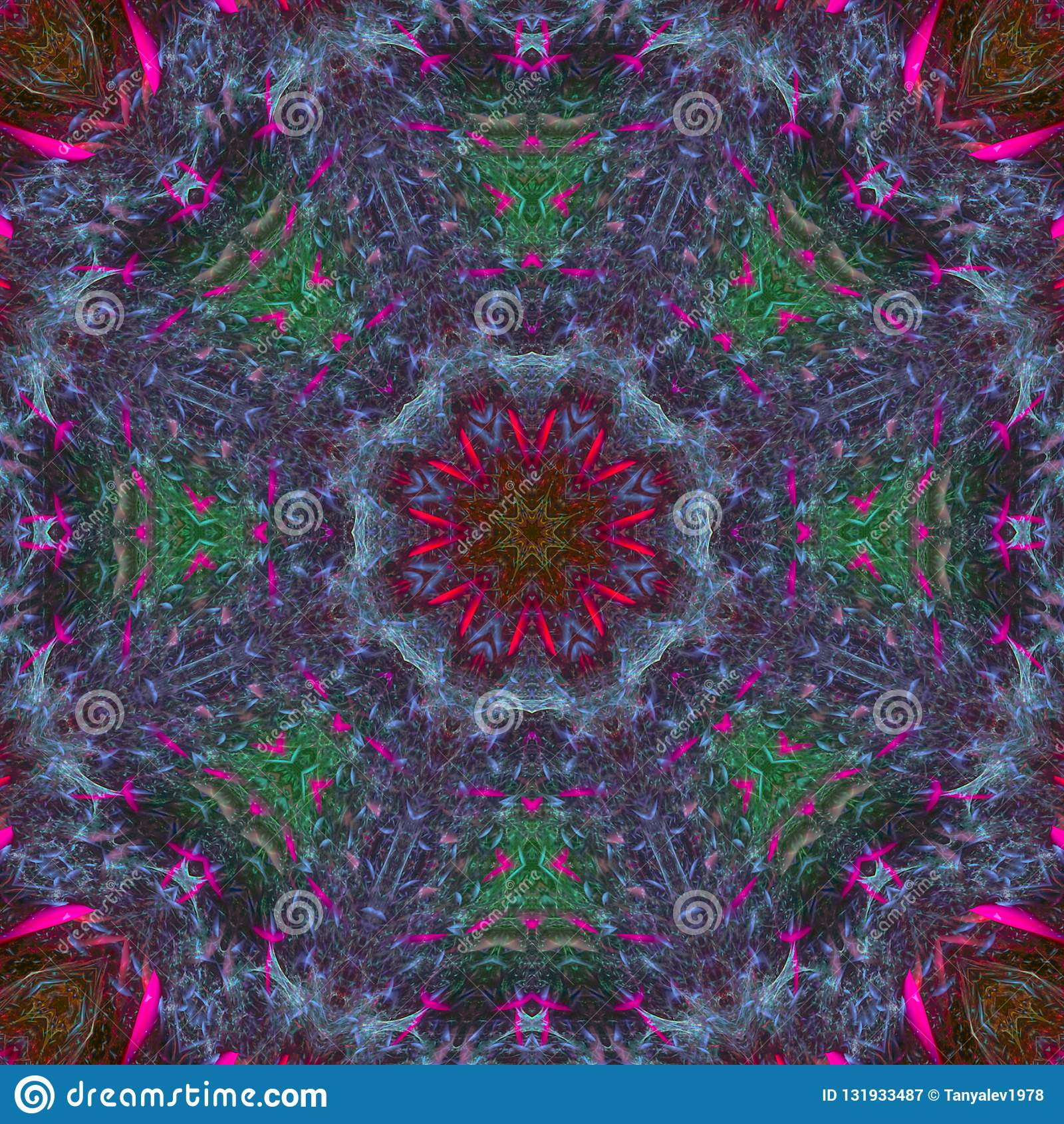 万花筒数字创造性的颜色设计时尚样式装饰品坛场,东方现代魔术