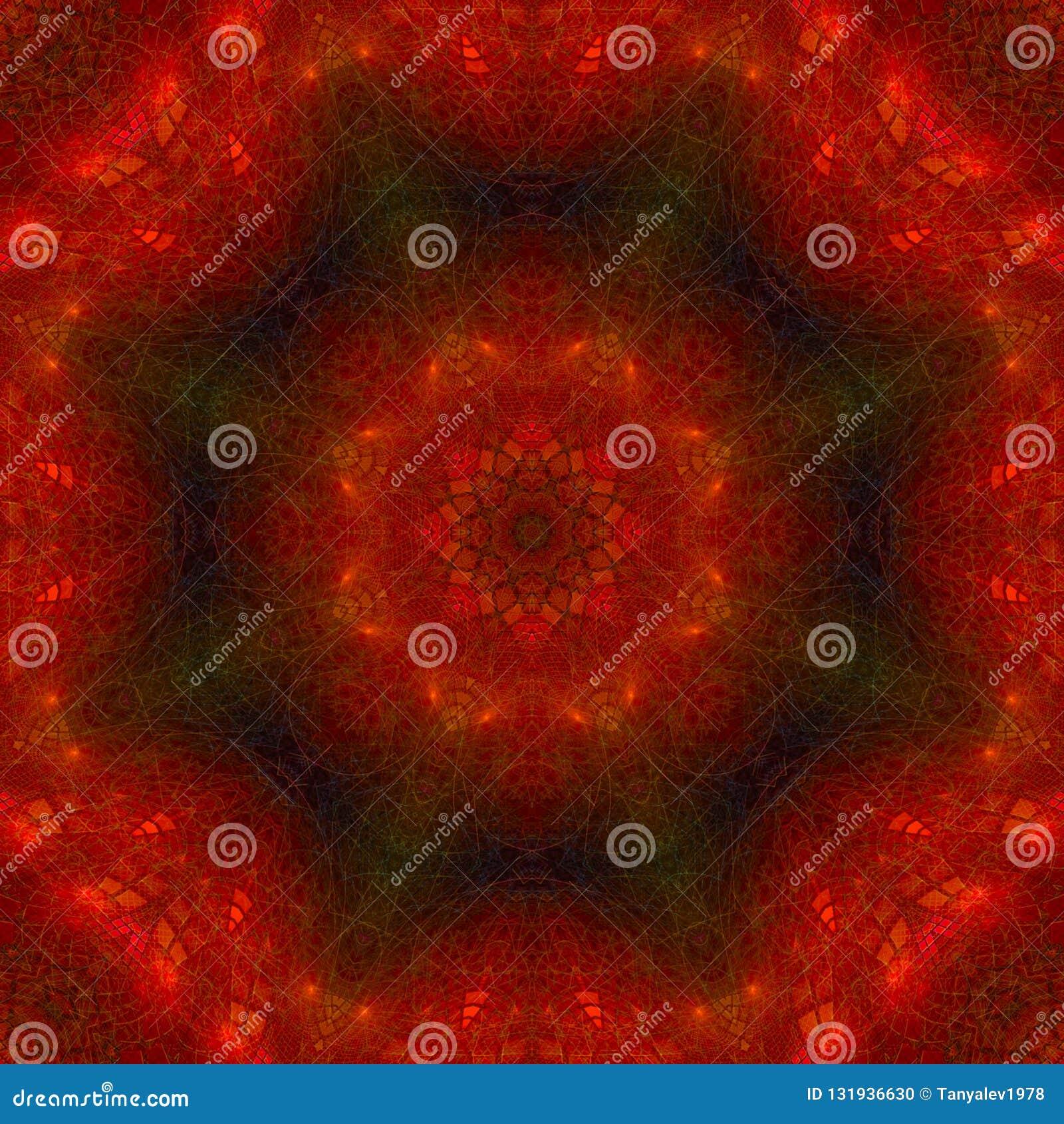 万花筒数字抽象神秘的坛场,东方现代魔术