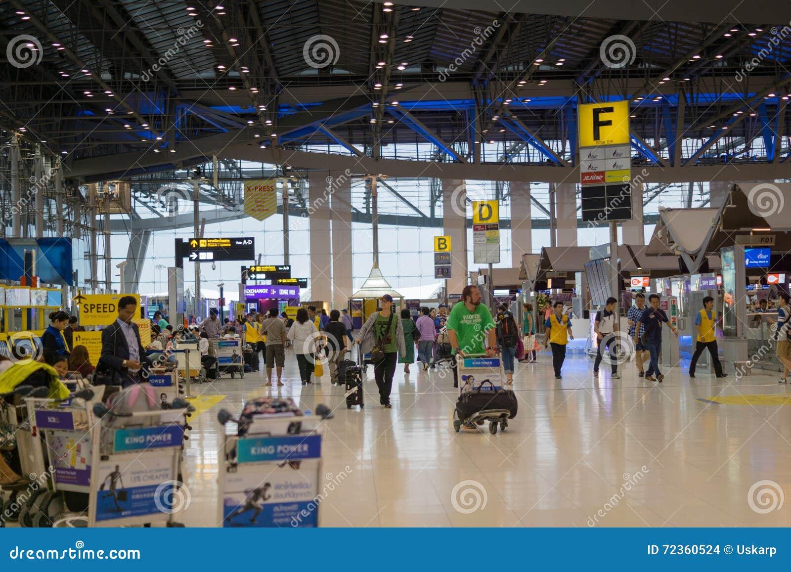 素万那普机场离开终端,曼谷,泰国
