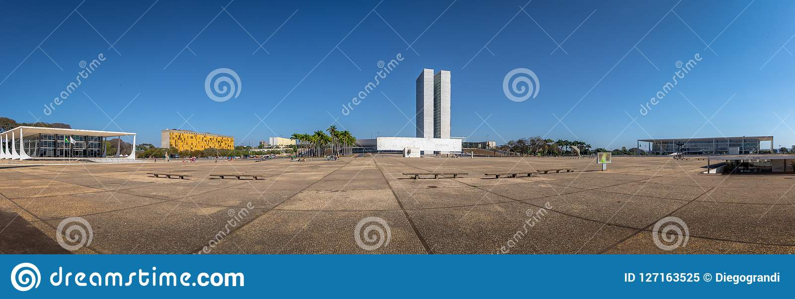 三力量广场-巴西利亚,联邦的Distrito,巴西全景