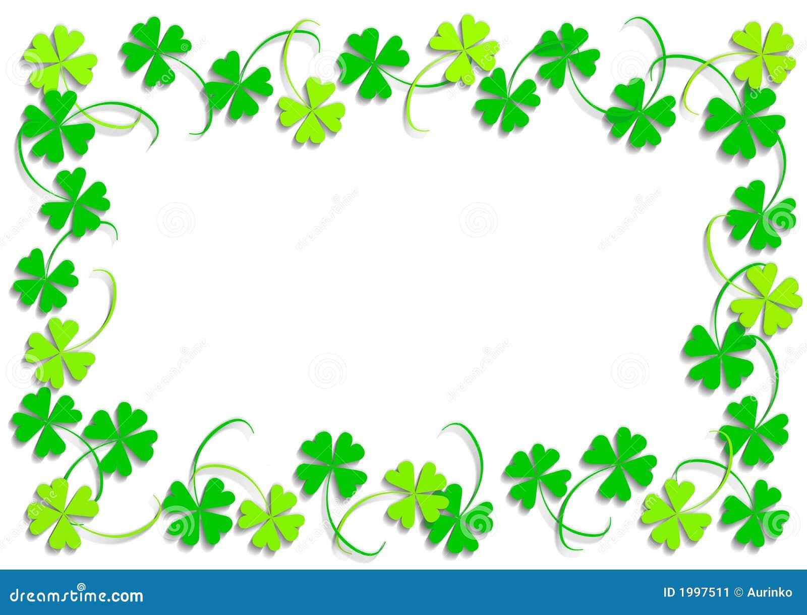 三叶草四绿色叶子 库存例证 插画 包括有 艺术 幸运 抽象 说明 框架 生态 节假日 夹子